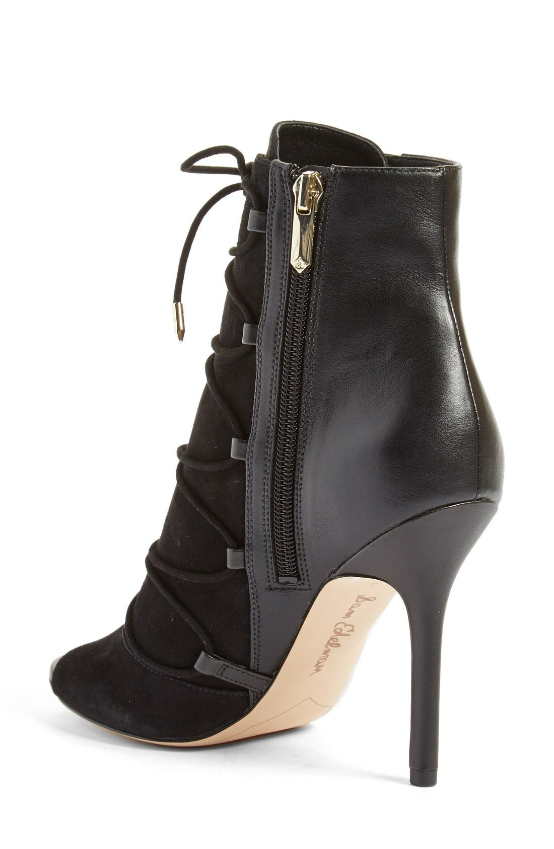'Asher' Open Toe Bootie,                             Alternate thumbnail 2, color,                             001