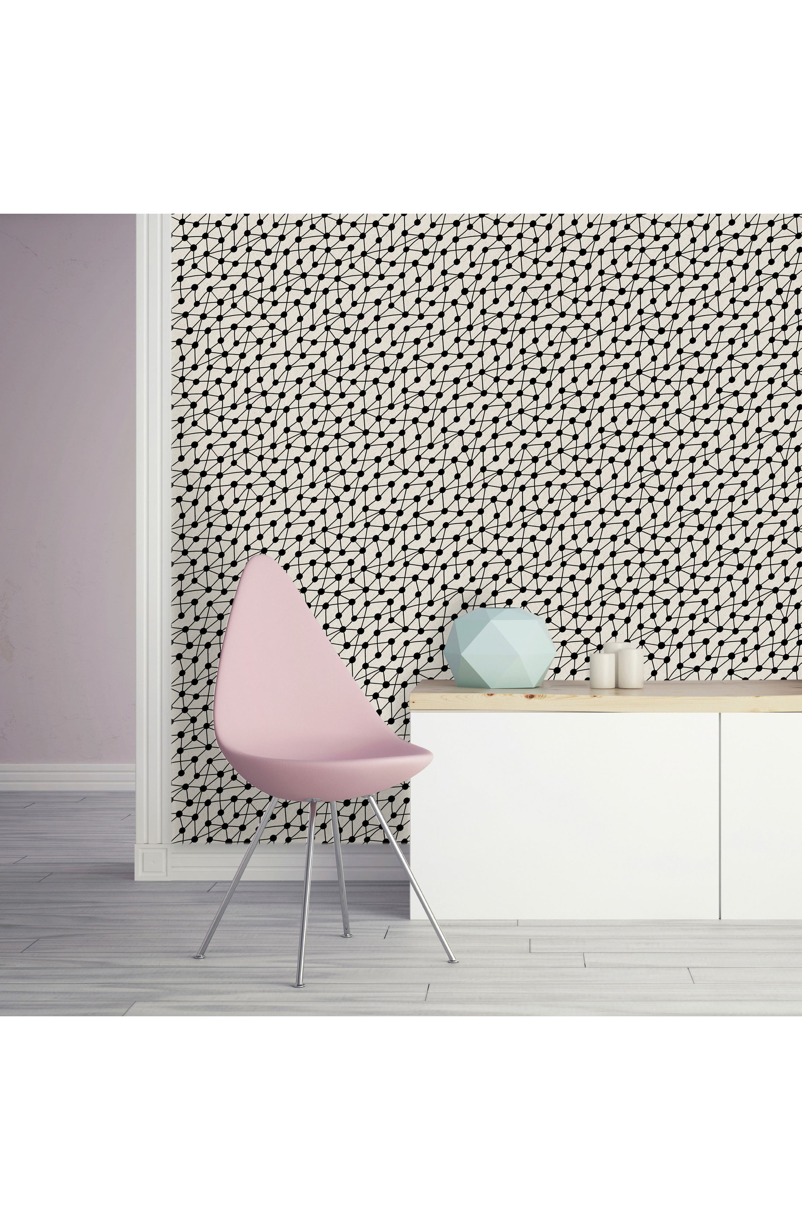 Connect Self-Adhesive Vinyl Wallpaper,                             Alternate thumbnail 2, color,                             001