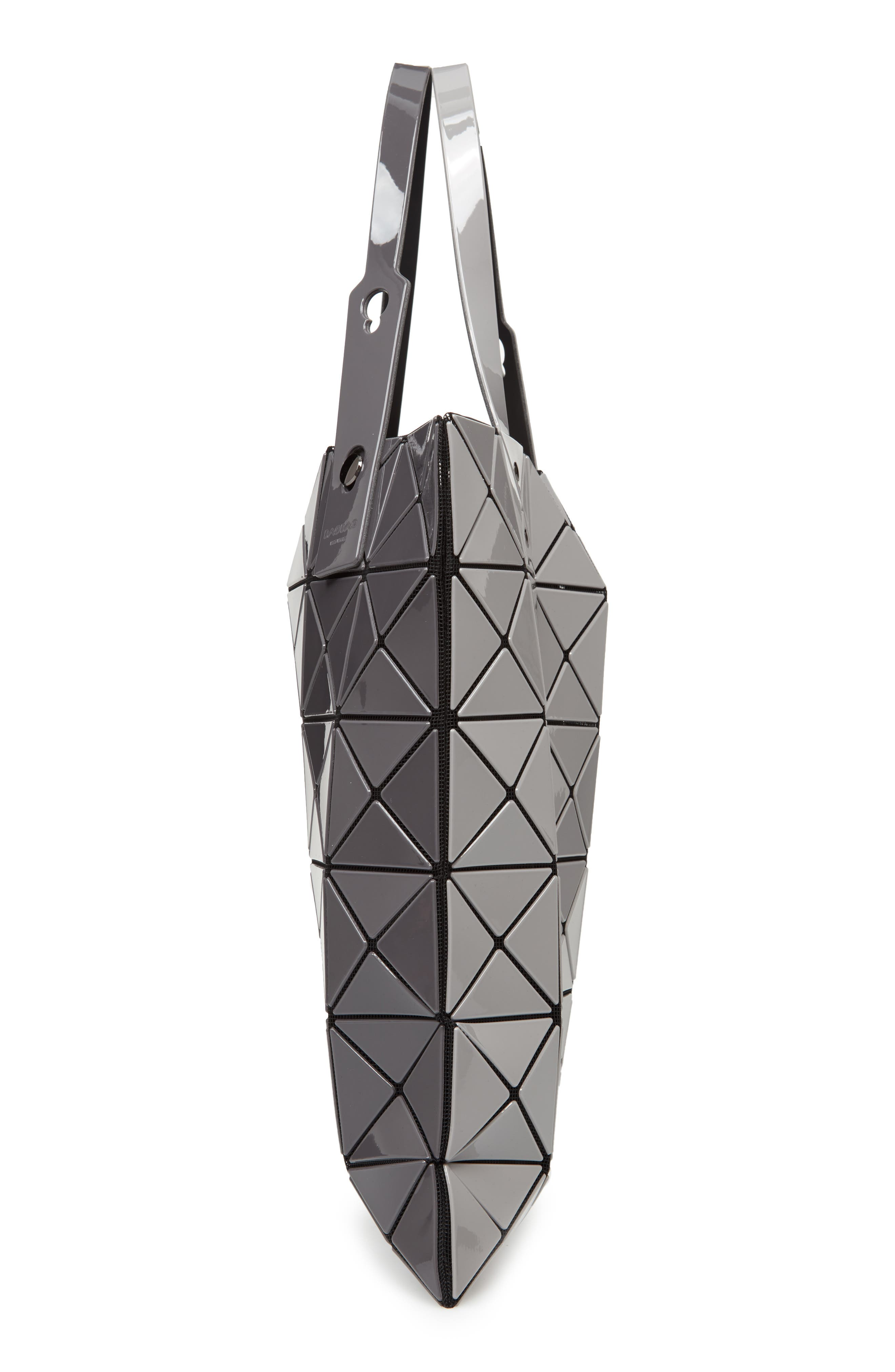 Lucent Two-Tone Tote Bag,                             Alternate thumbnail 5, color,                             LIGHT GRAY/ CHARCOAL