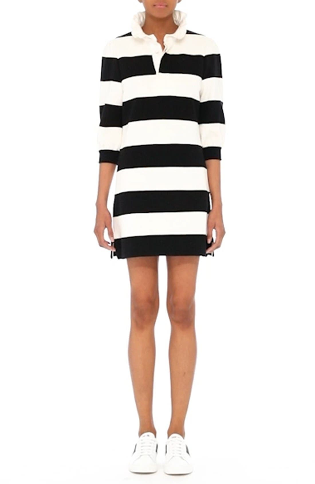 Rugby Sweater Dress,                             Alternate thumbnail 7, color,