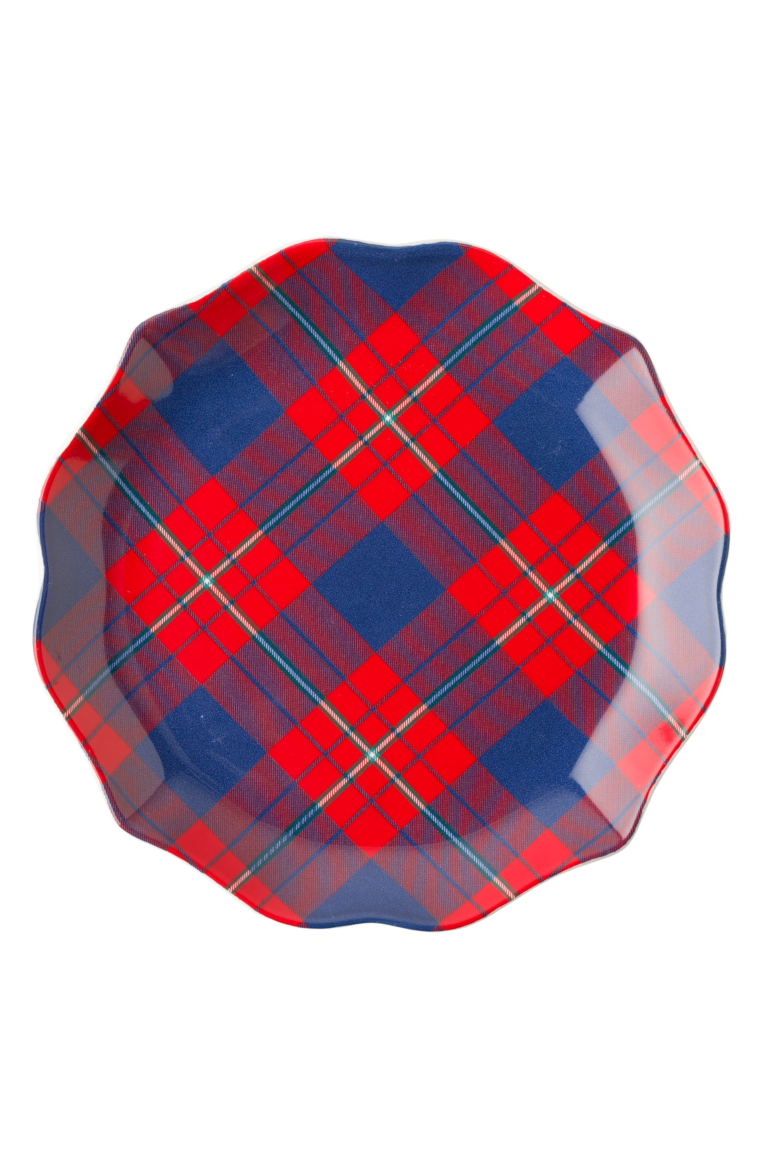 New Traditions - Tartan Tidbit Set of 4 Plates,                             Alternate thumbnail 3, color,                             400