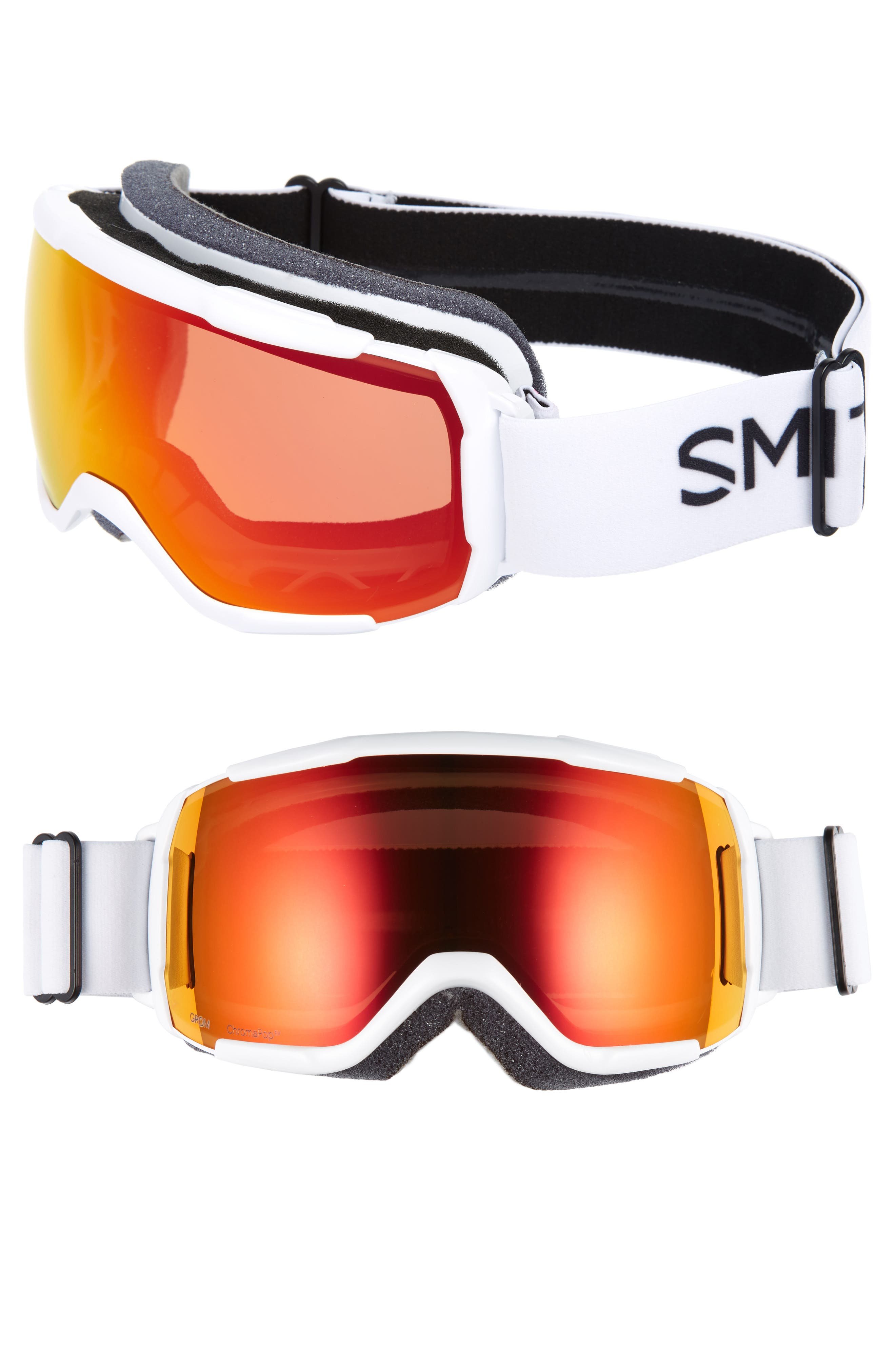 ea6195ddf5a1 Smith Grom 185Mm Snow Goggles - White