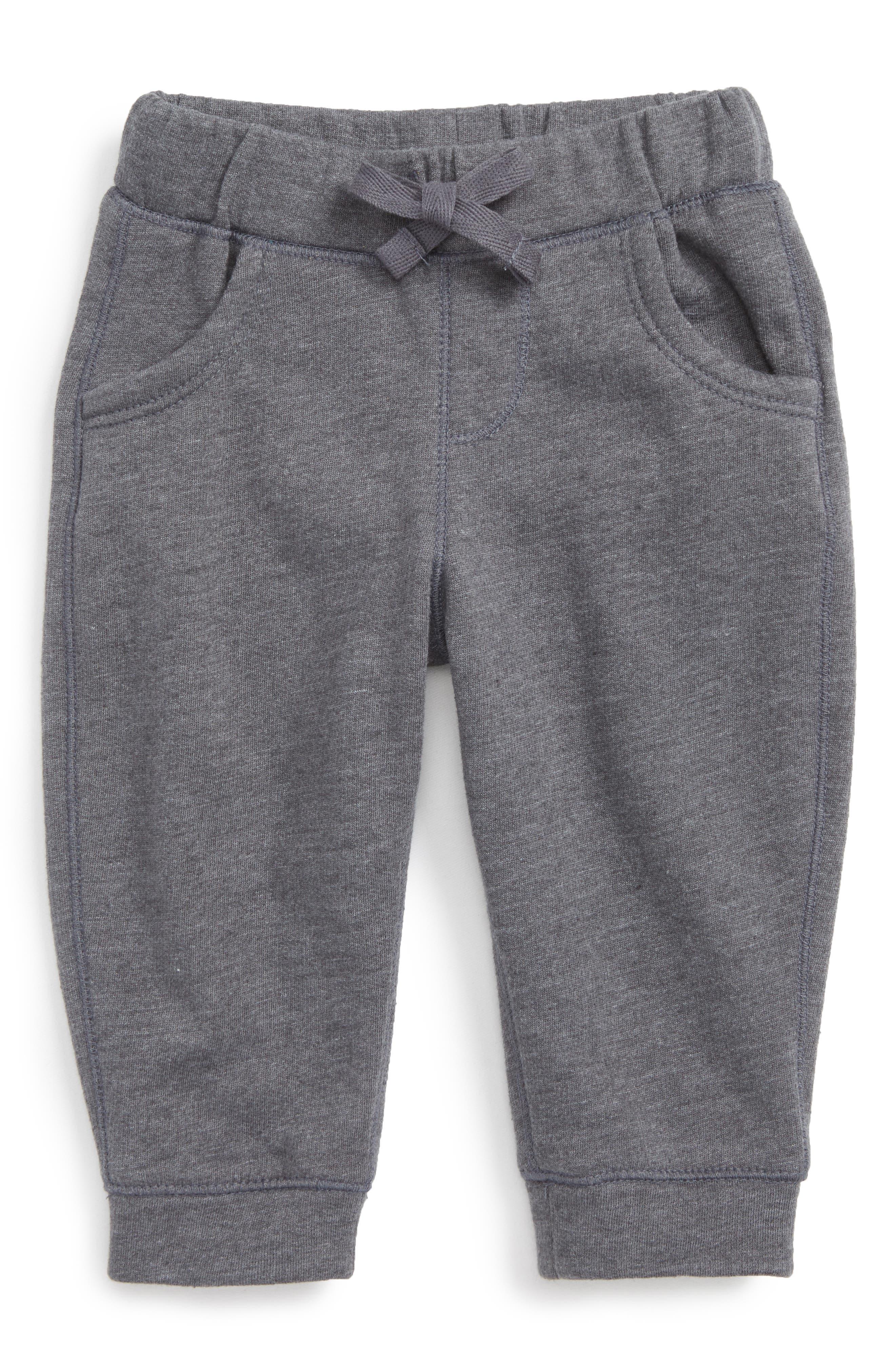Fleece Sweatpants,                         Main,                         color, GREY CHARCOAL HEATHER