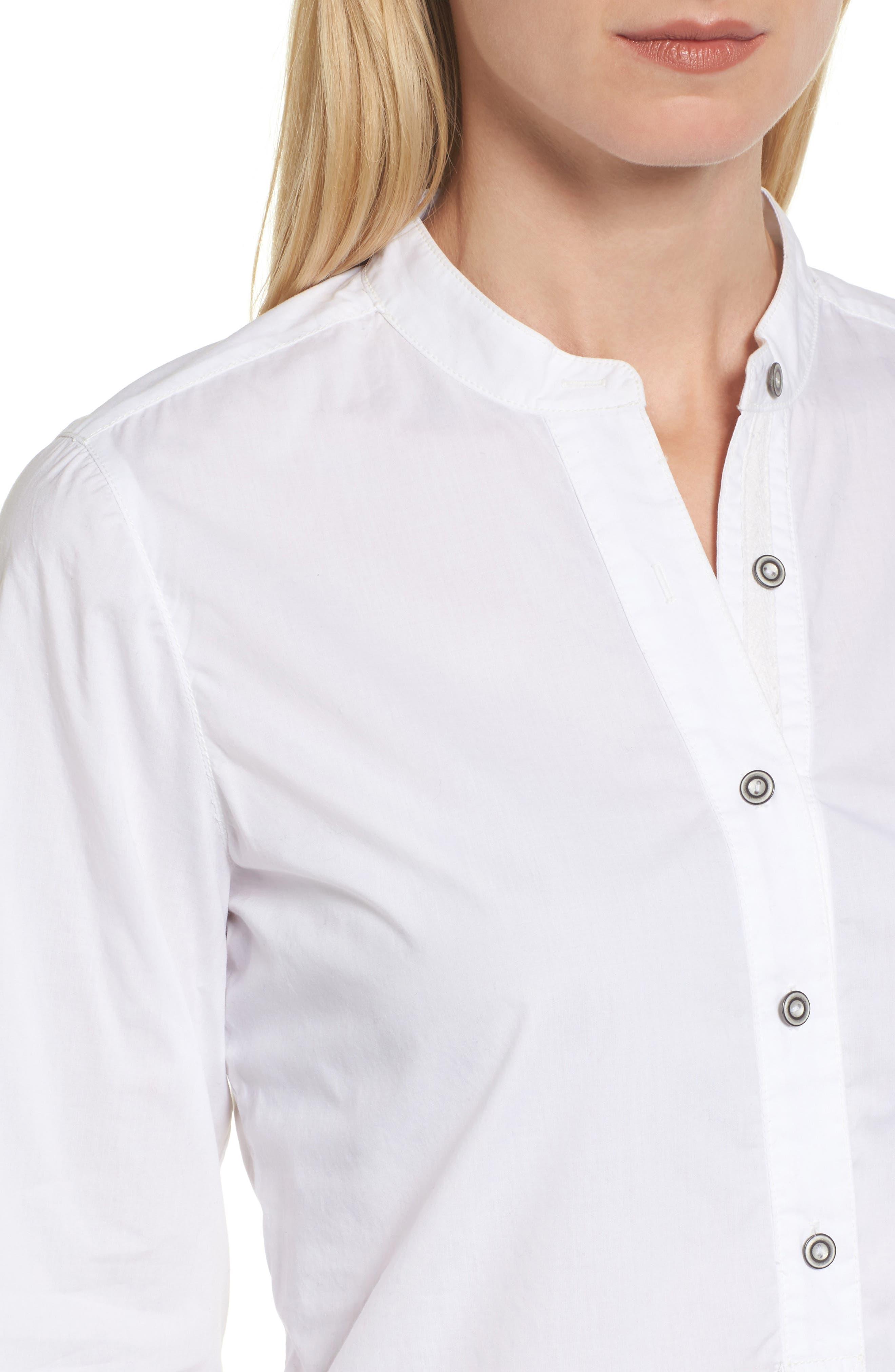 Popover Tunic Shirt,                             Alternate thumbnail 4, color,                             100