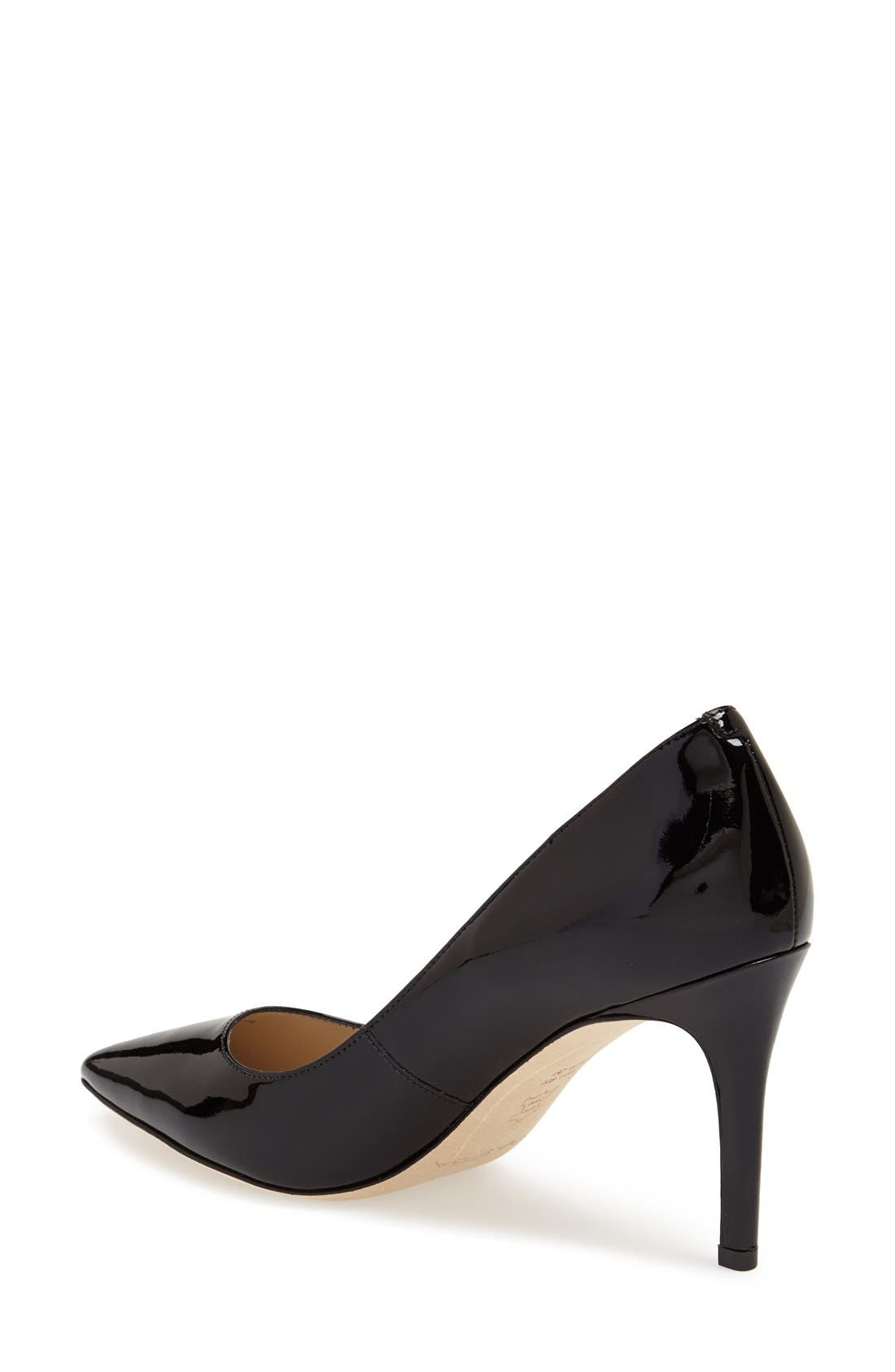 'Carola' Pointy Toe Pump,                             Alternate thumbnail 2, color,                             001