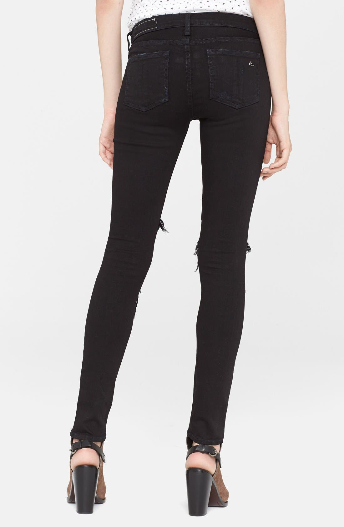 'The Skinny' Stretch Jeans,                             Alternate thumbnail 27, color,