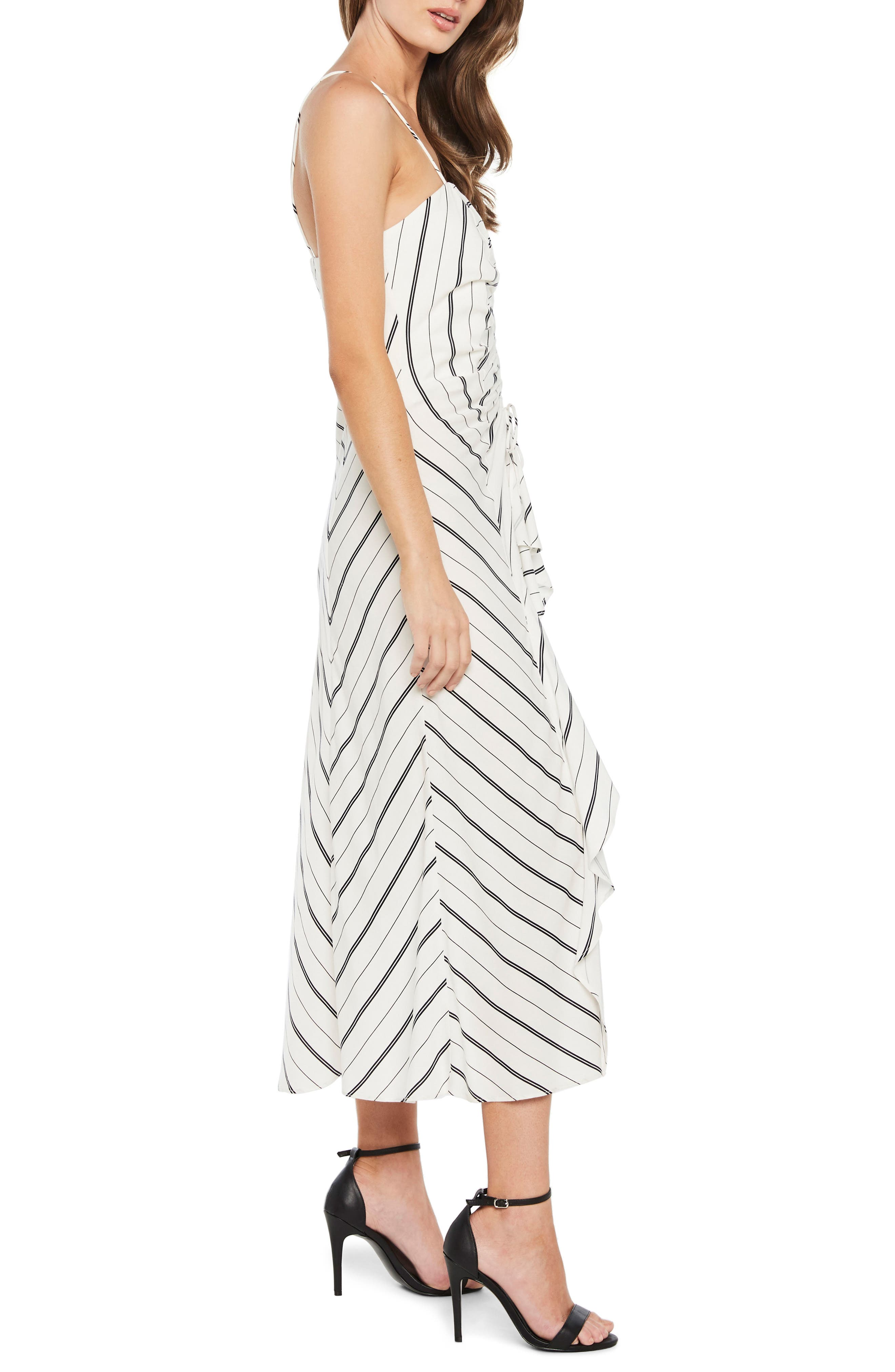 Winona Stripe Ruffle Sundress,                             Alternate thumbnail 3, color,                             162