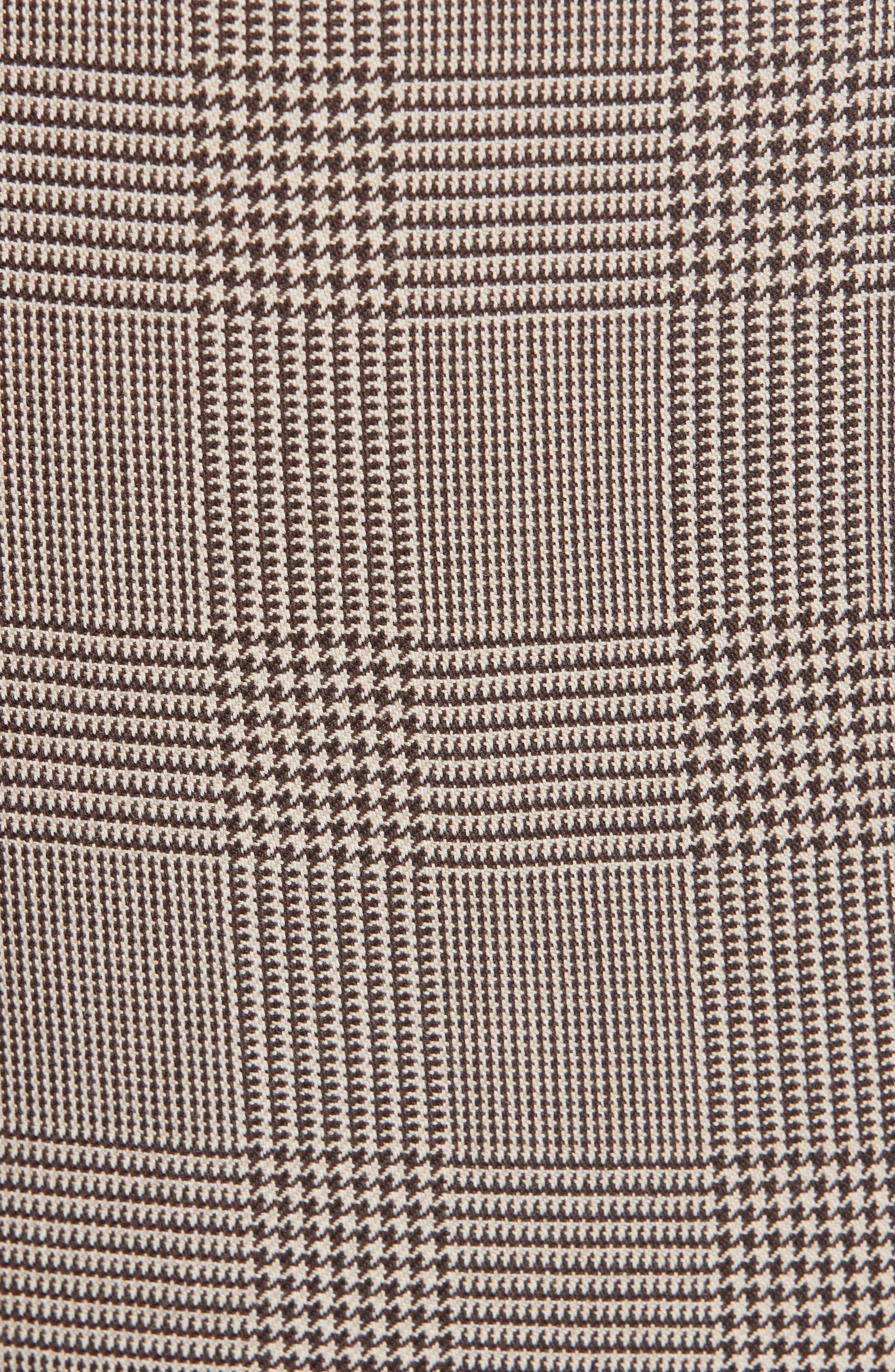Check Wool Blend Pants,                             Alternate thumbnail 5, color,                             BAC BEIGE