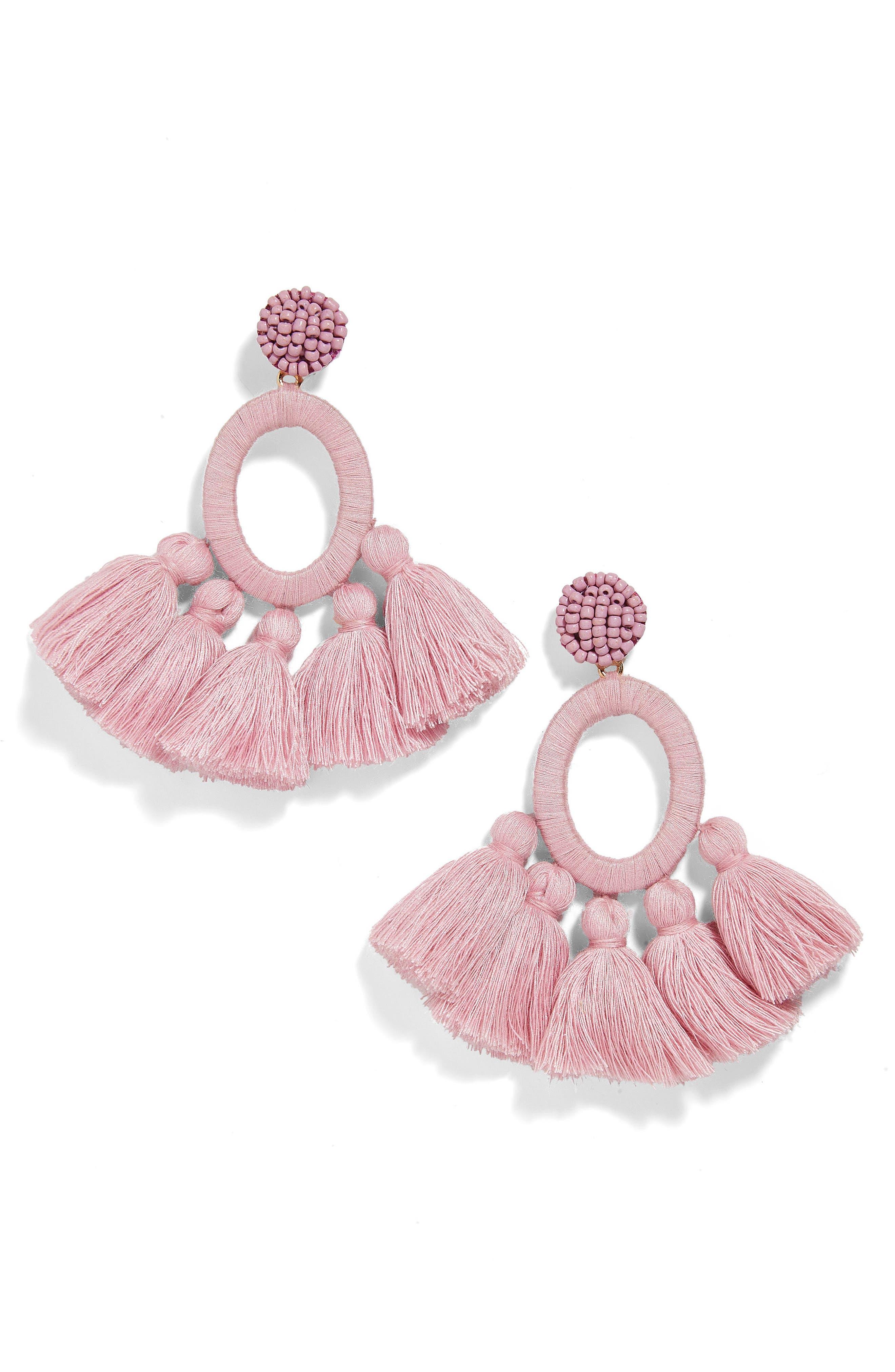 Abacos Tassel Earrings,                         Main,                         color, BLUSH