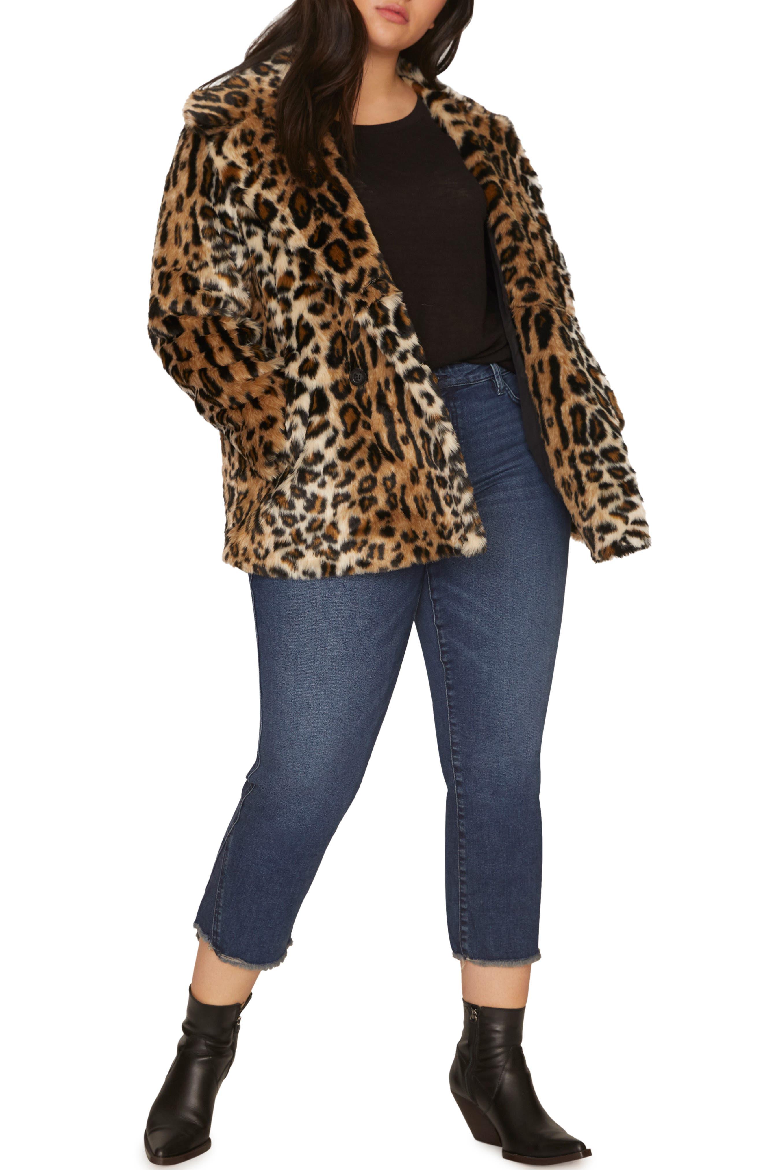 Seeing Spots Faux Fur Coat,                             Alternate thumbnail 4, color,                             200