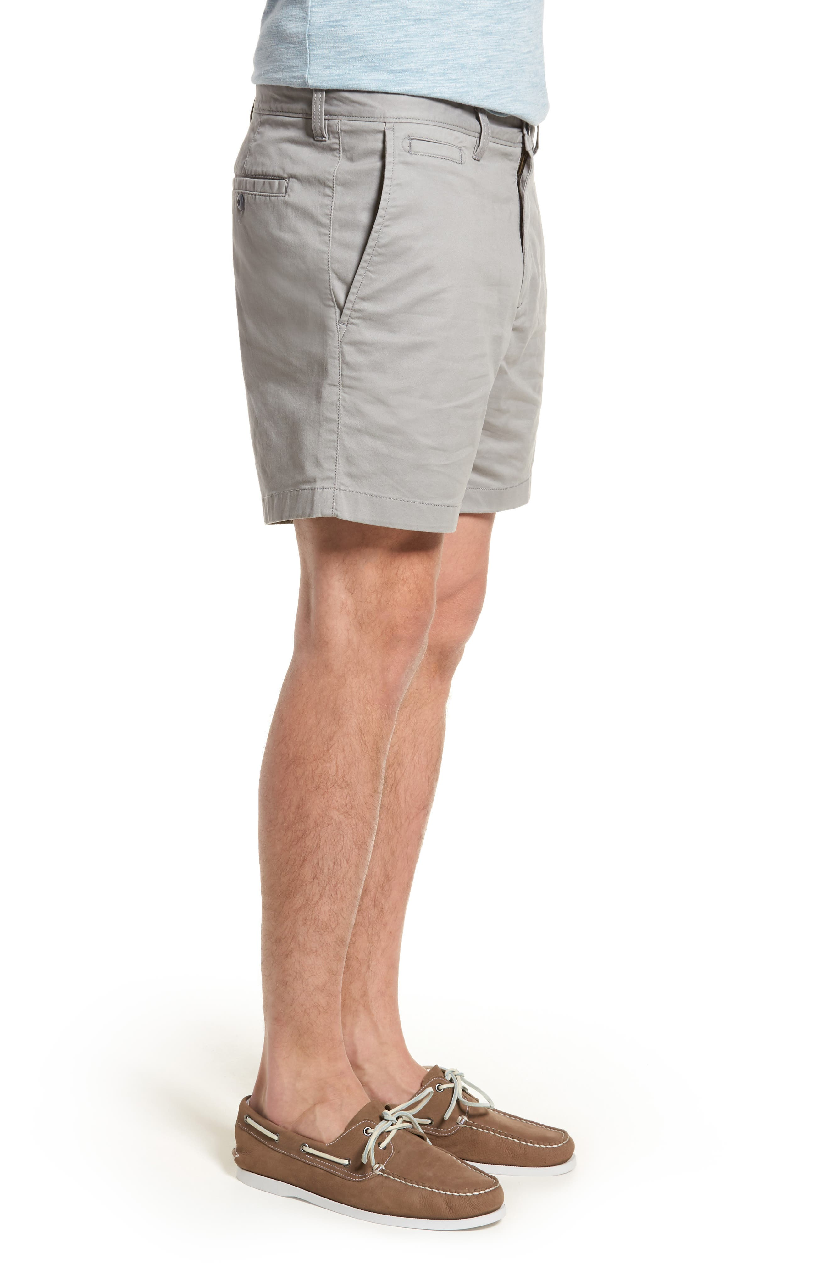Ballard Slim Fit Stretch Chino 7-Inch Shorts,                             Alternate thumbnail 3, color,                             030
