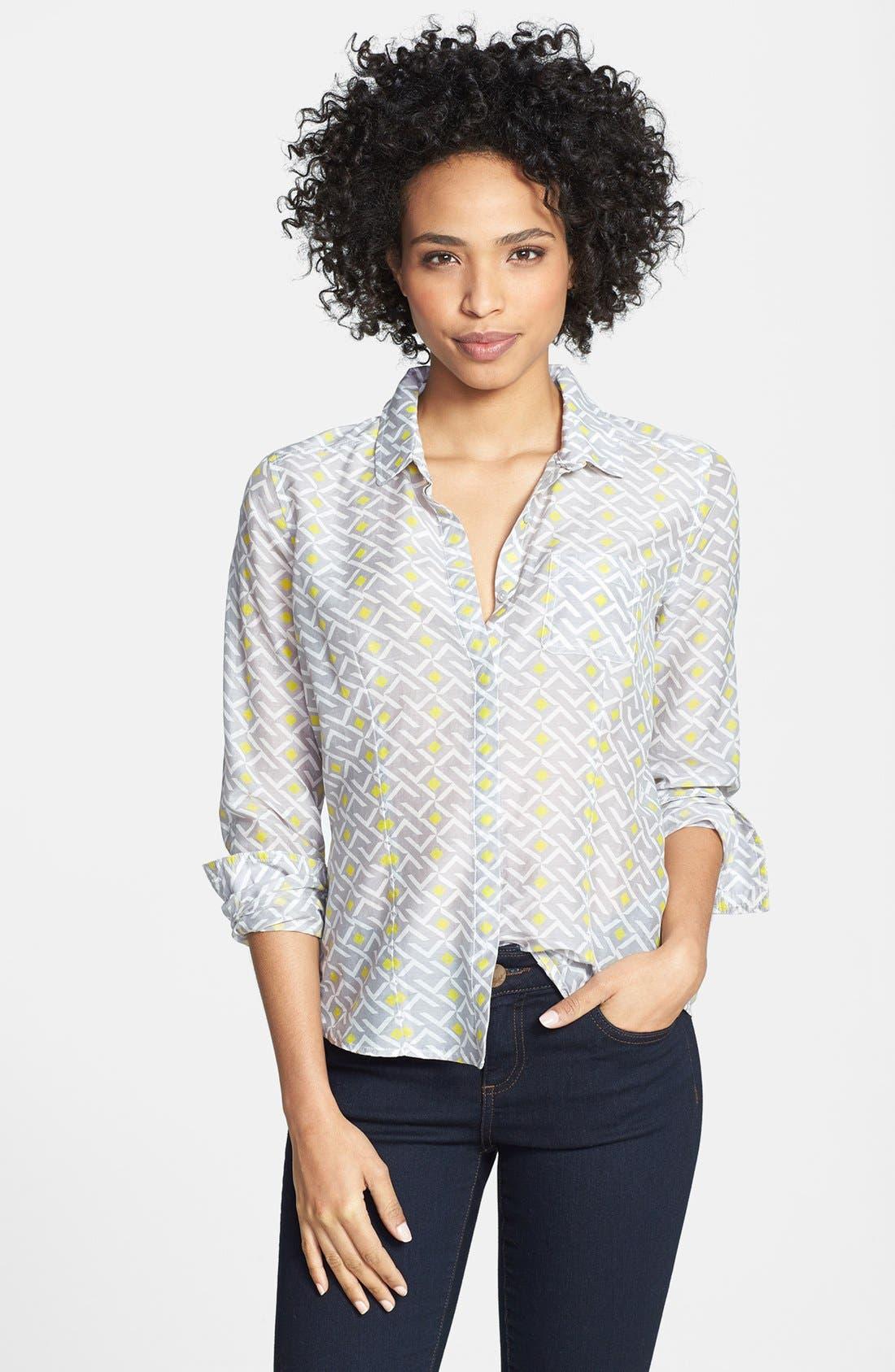 Cotton & Silk Shirt,                             Main thumbnail 4, color,