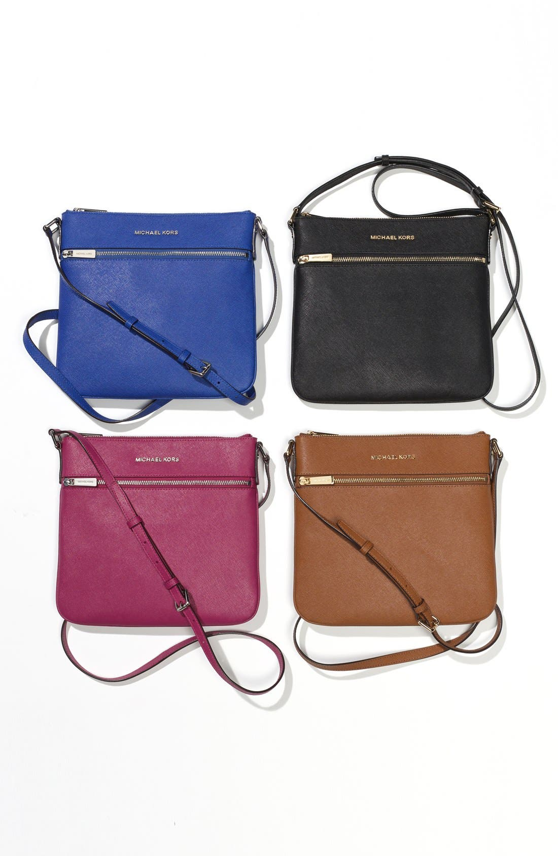 'Bedford' Saffiano Leather Crossbody Bag,                             Alternate thumbnail 2, color,                             001