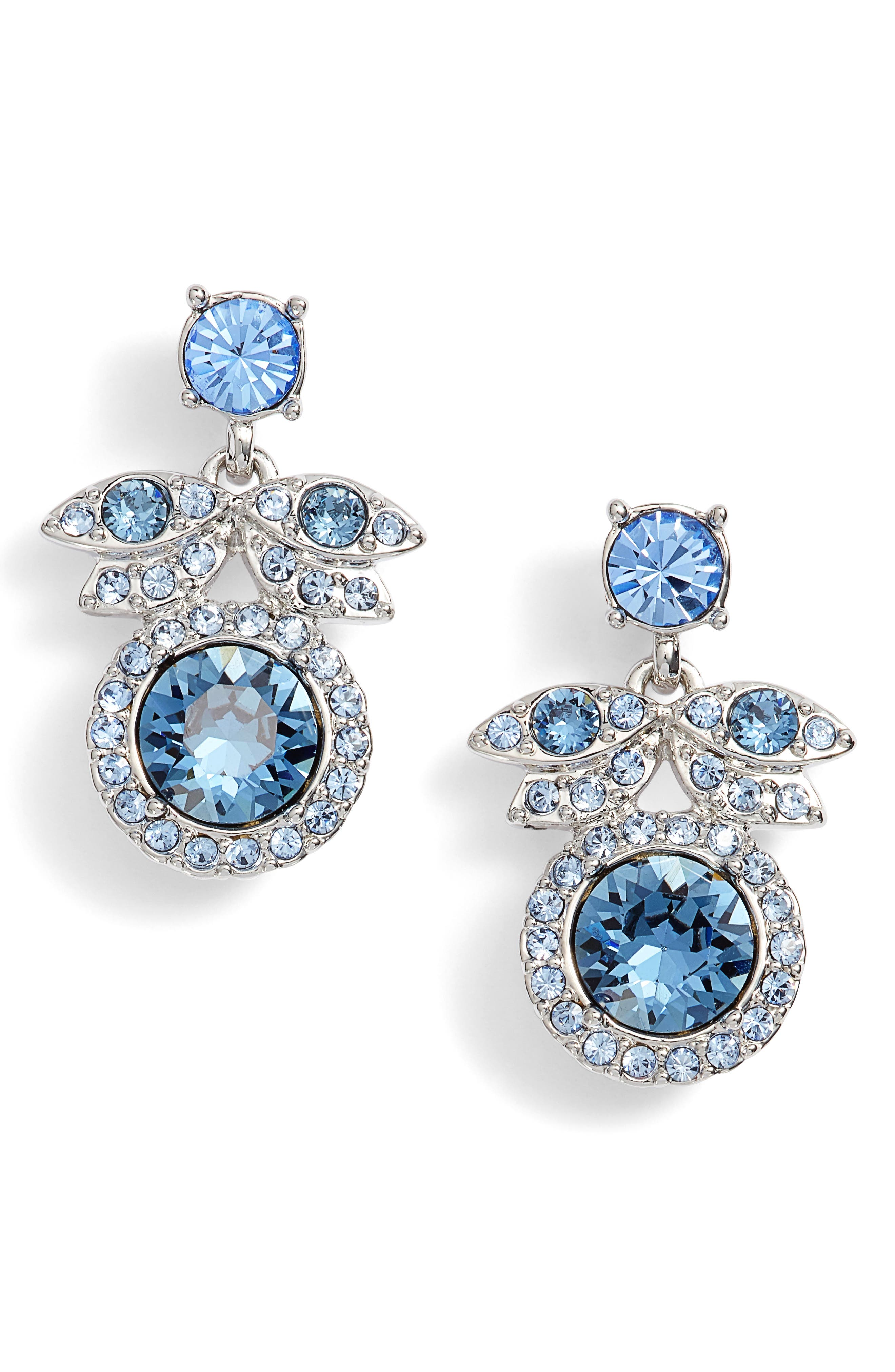 Crystal Drop Earrings,                             Main thumbnail 1, color,                             040