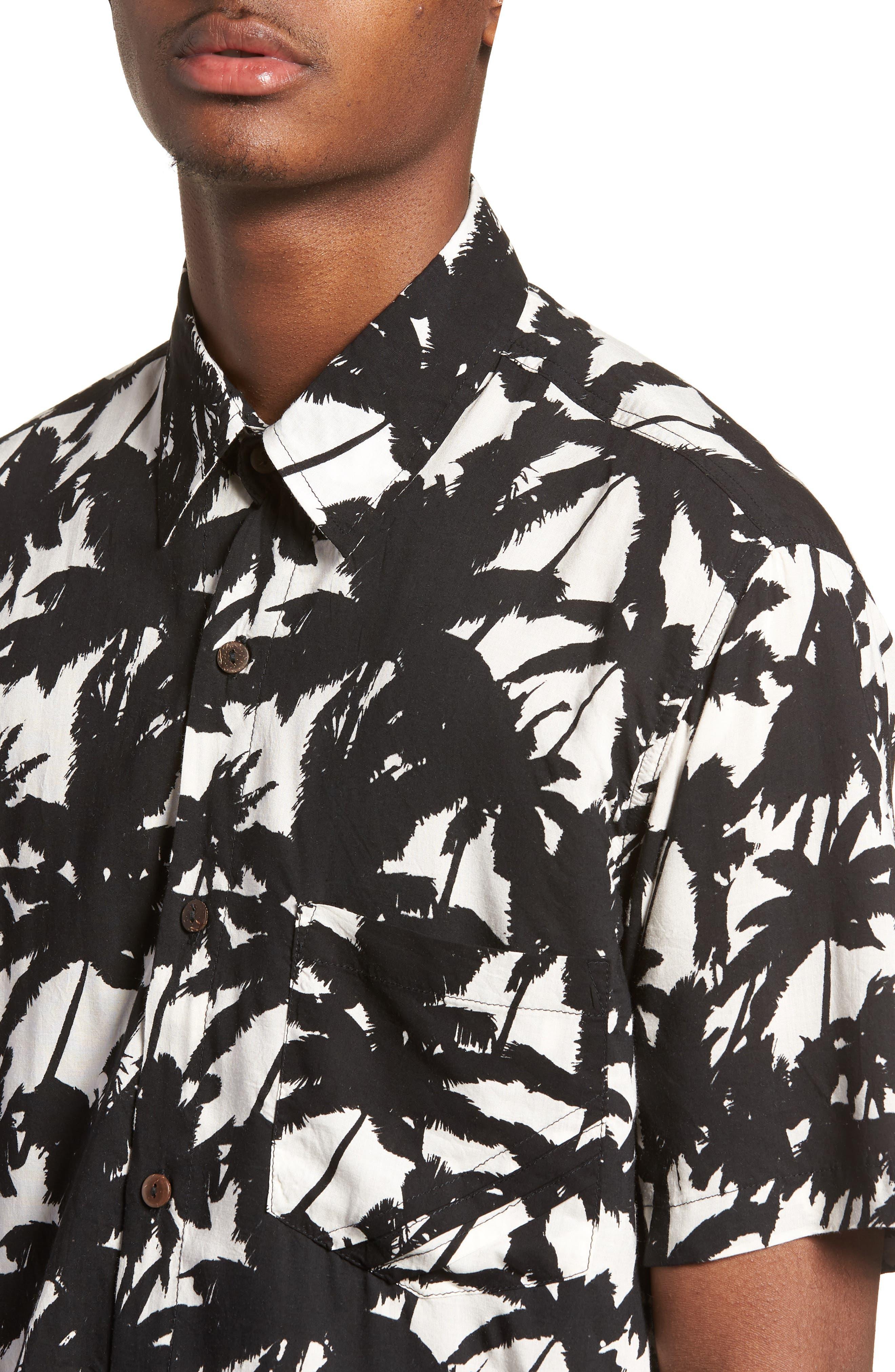 Stevie Woven Shirt,                             Alternate thumbnail 4, color,                             001