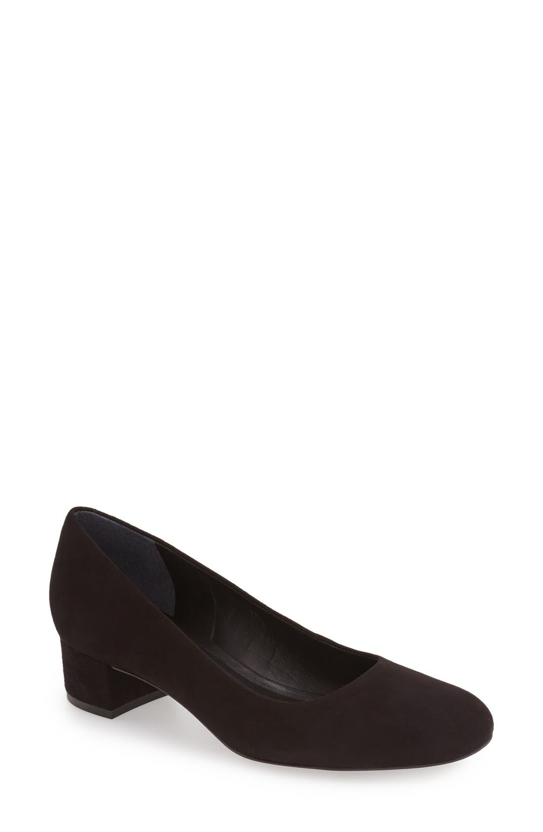 Bernardo Reggie Block Heel Pump,                         Main,                         color, 001