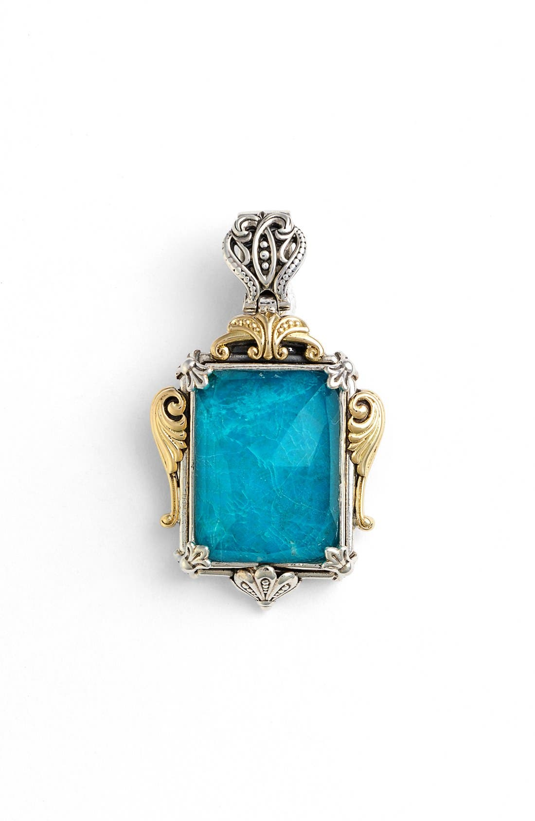 'Iliada' Rectangle Pendant,                             Main thumbnail 1, color,                             BLUE/ GREEN