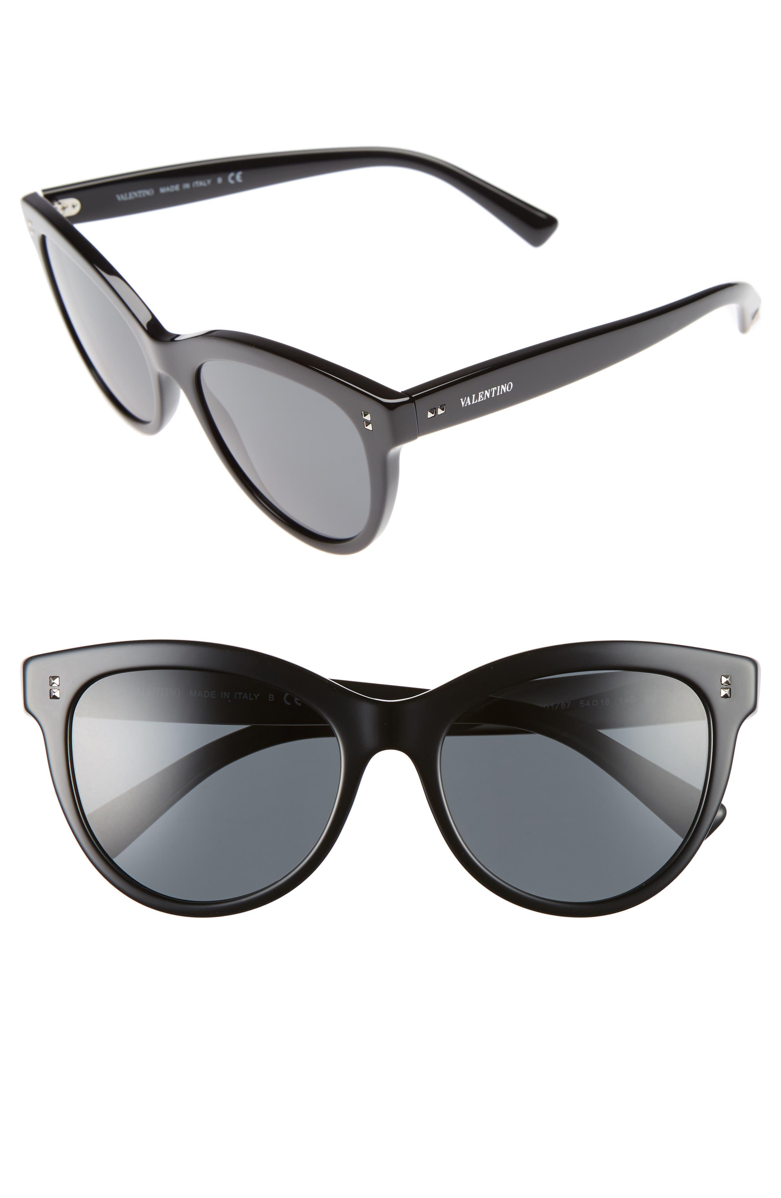 54mm Cat Eye Sunglasses,                             Main thumbnail 1, color,                             001