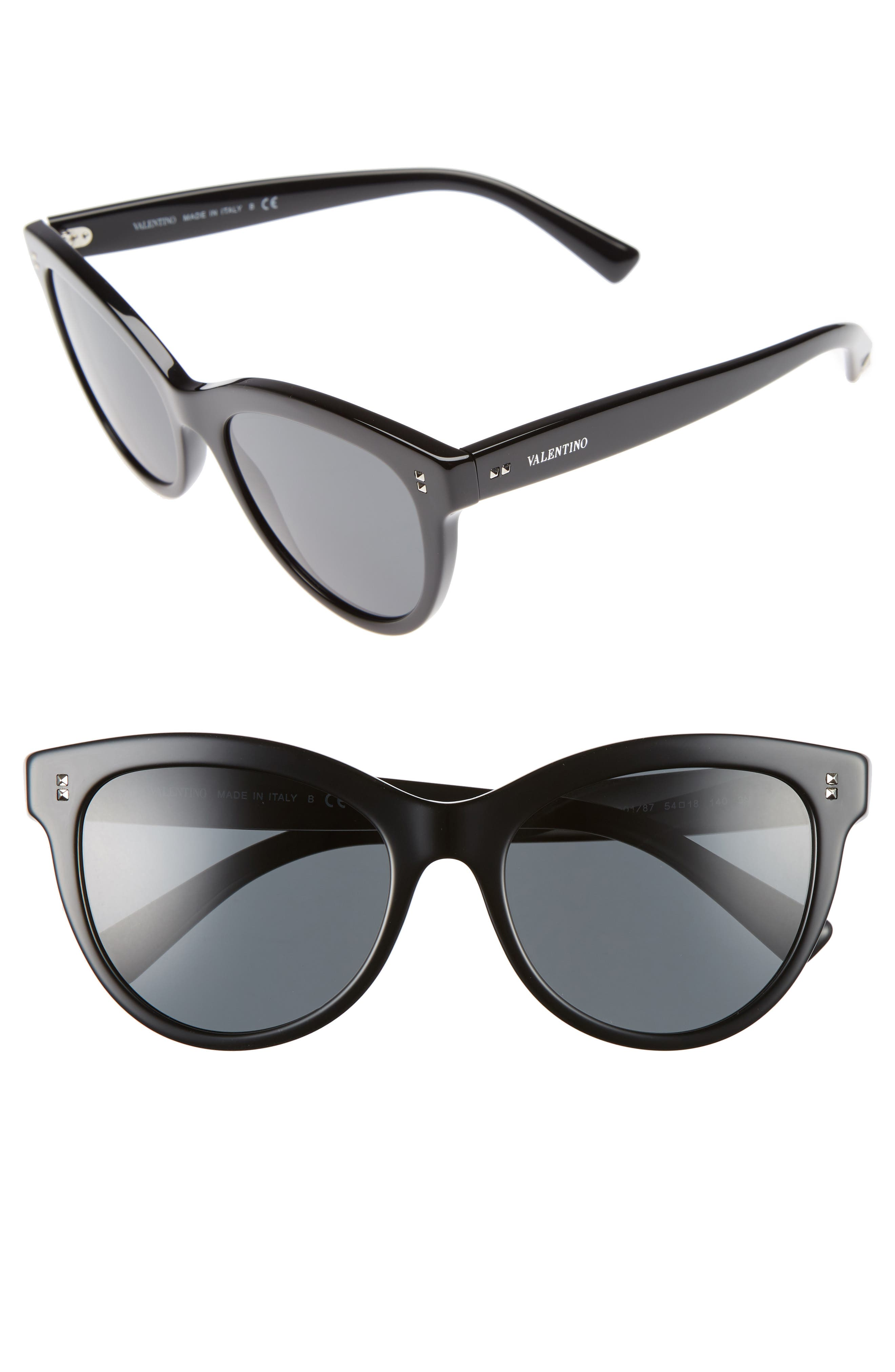 54mm Cat Eye Sunglasses,                         Main,                         color, 001