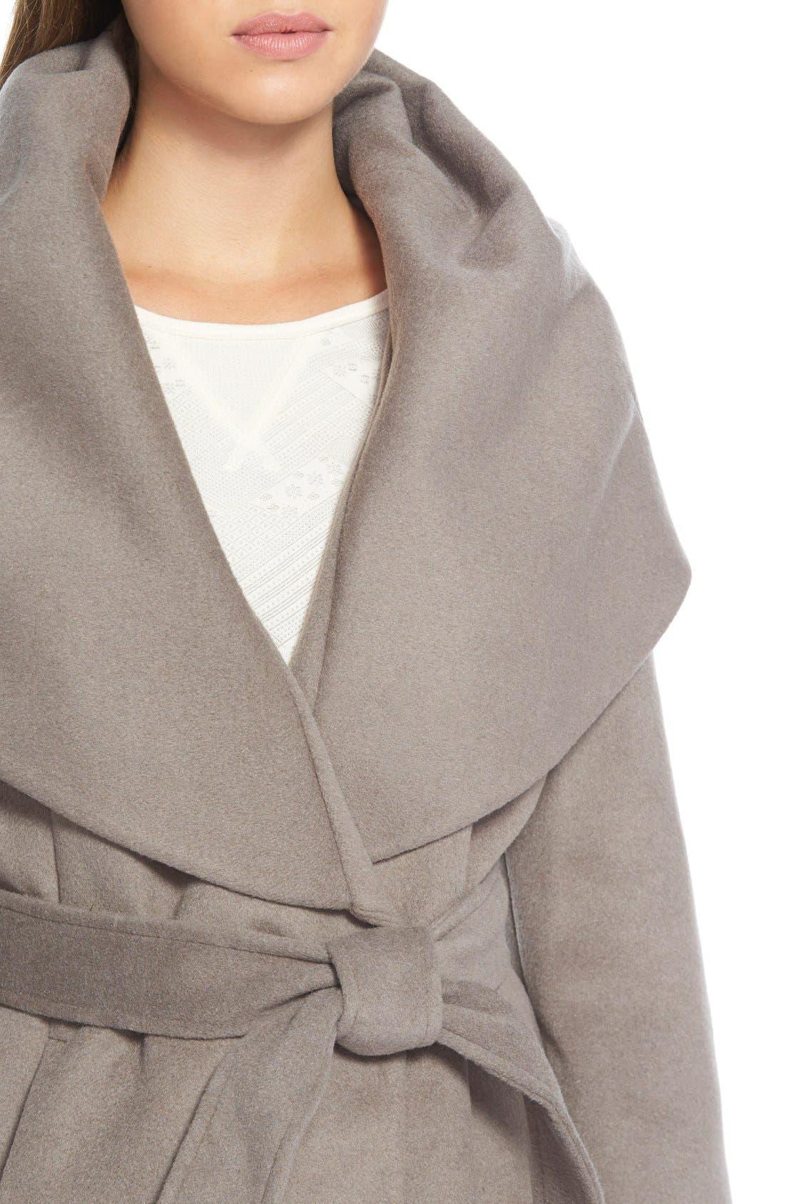 T Tahari Wool Blend Belted Wrap Coat,                             Alternate thumbnail 35, color,