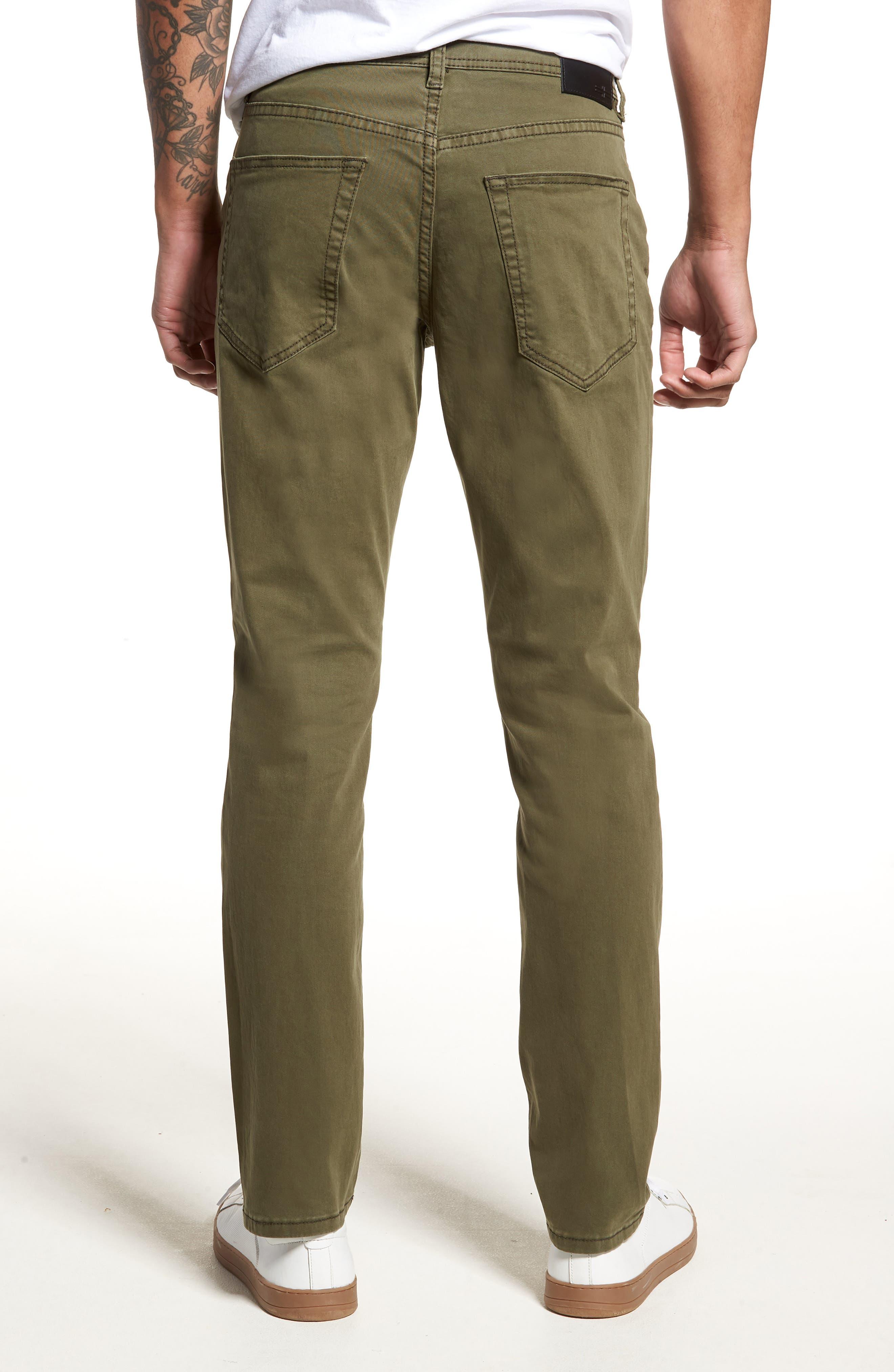 Jeans Co. Kingston Slim Straight Leg Jeans,                             Alternate thumbnail 2, color,                             OLIVE NIGHT