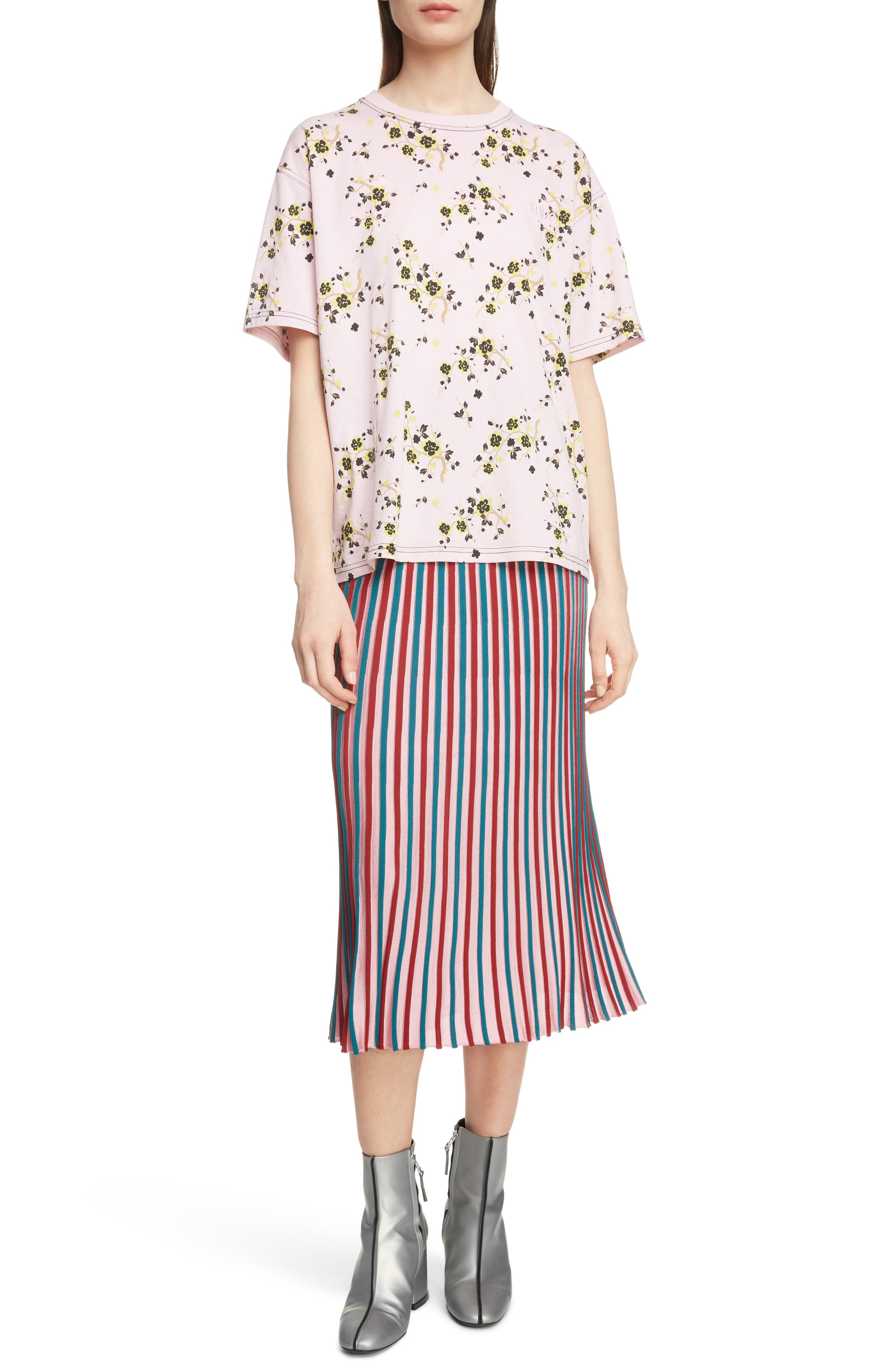 Floral Oversized Tee,                             Alternate thumbnail 6, color,                             PASTEL PINK