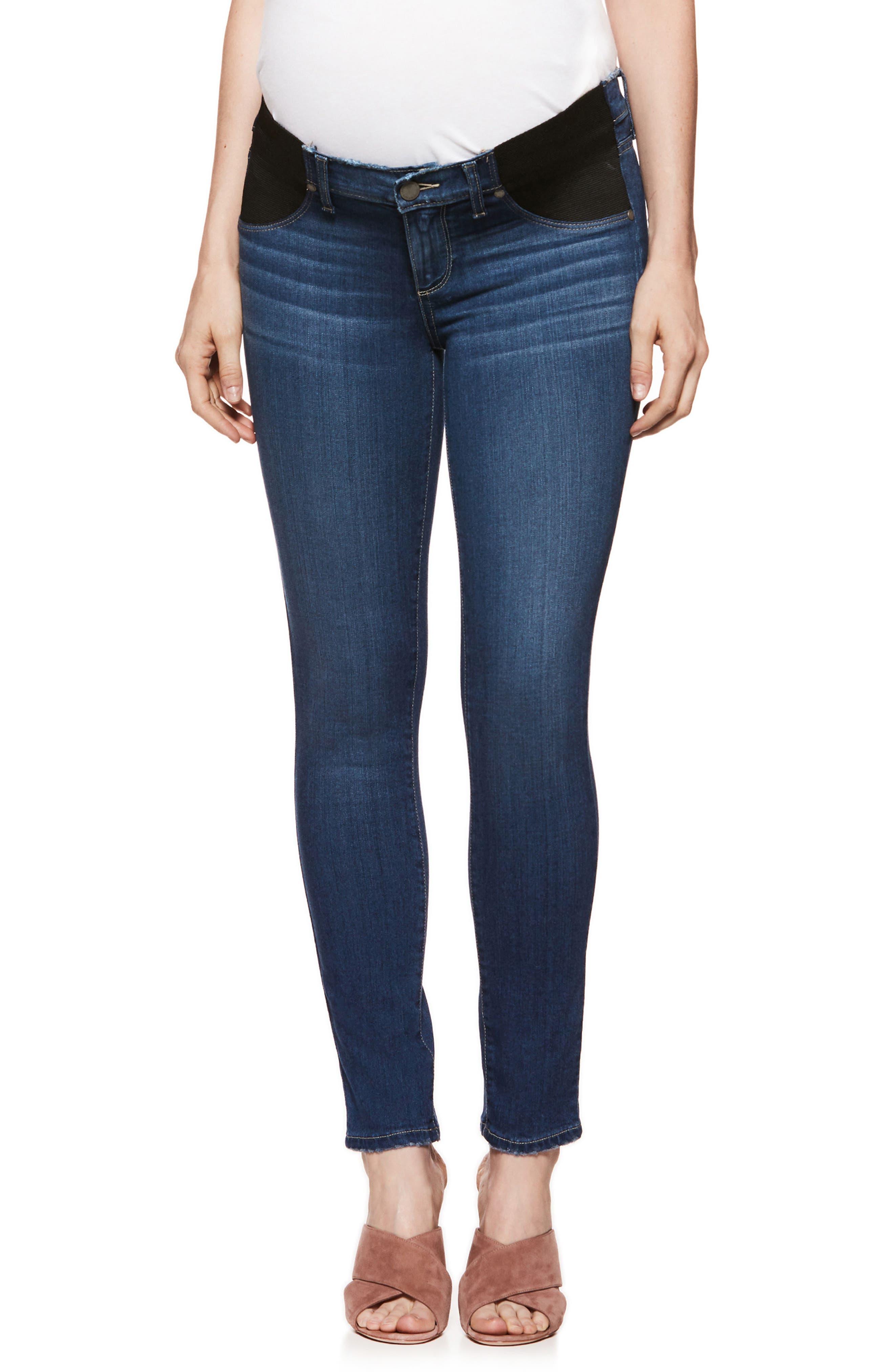 PAIGE Transcend - Verdugo Ultra Skinny Maternity Jeans, Main, color, 400