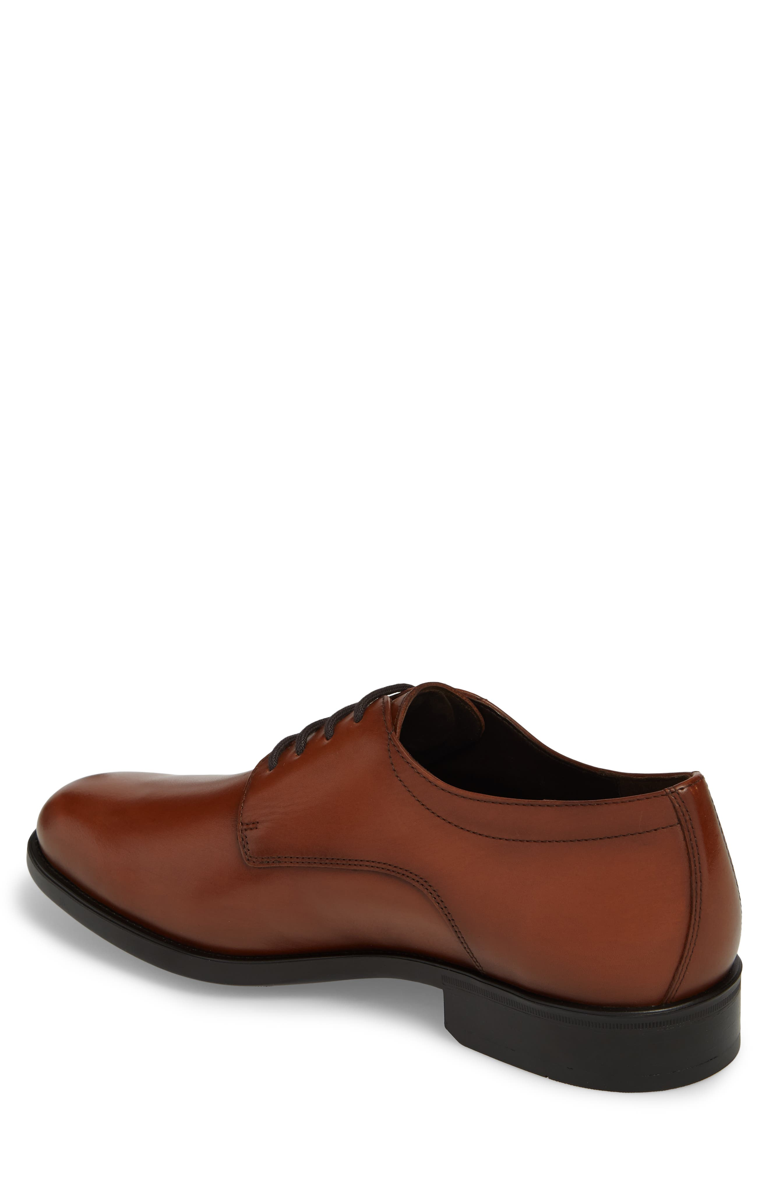 'Cooper' Plain Toe Derby,                             Alternate thumbnail 2, color,                             CHESTNUT LEATHER