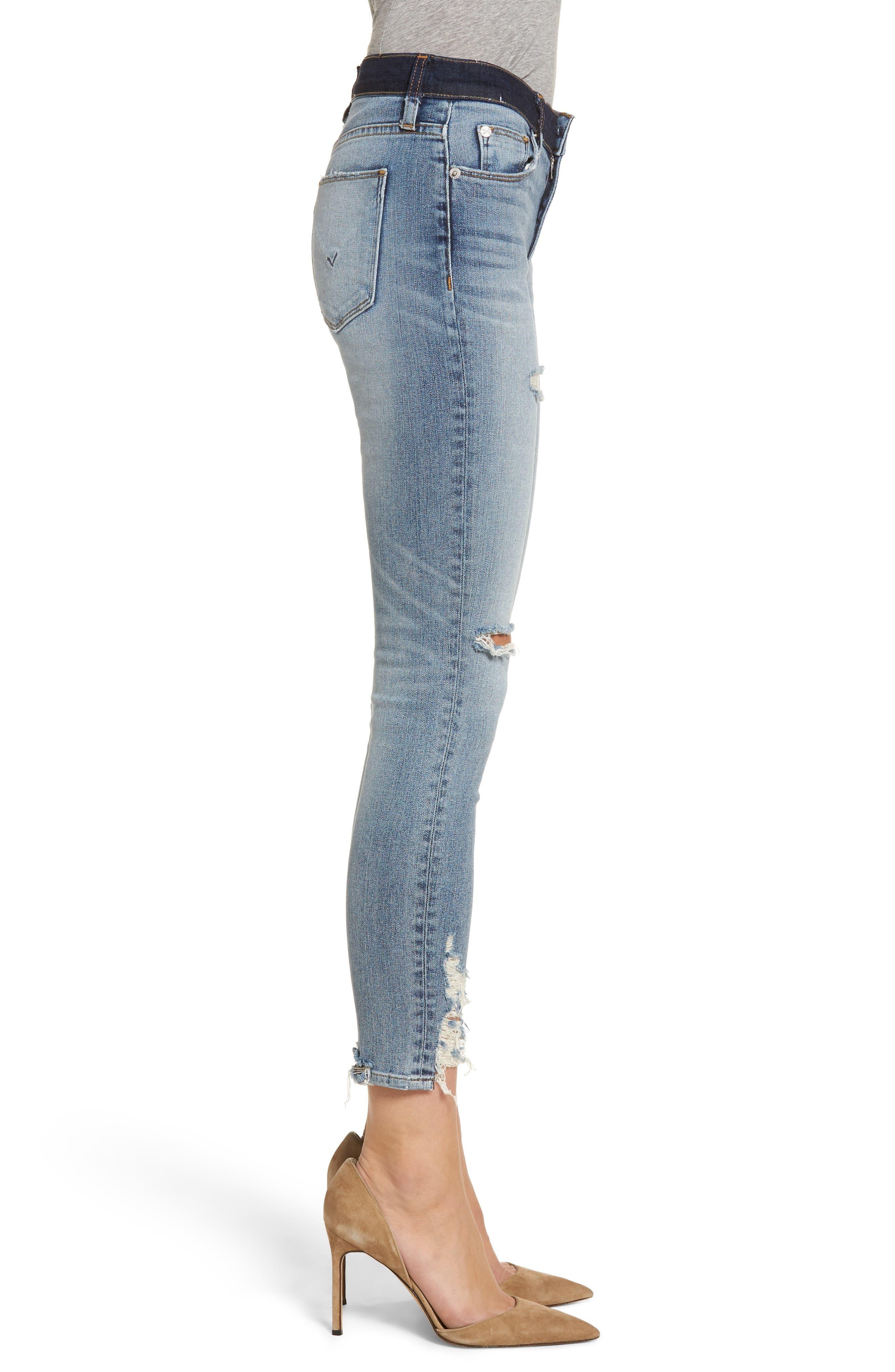 Hudson Nico Ankle Skinny Jeans,                             Alternate thumbnail 3, color,                             GAME CHANGER