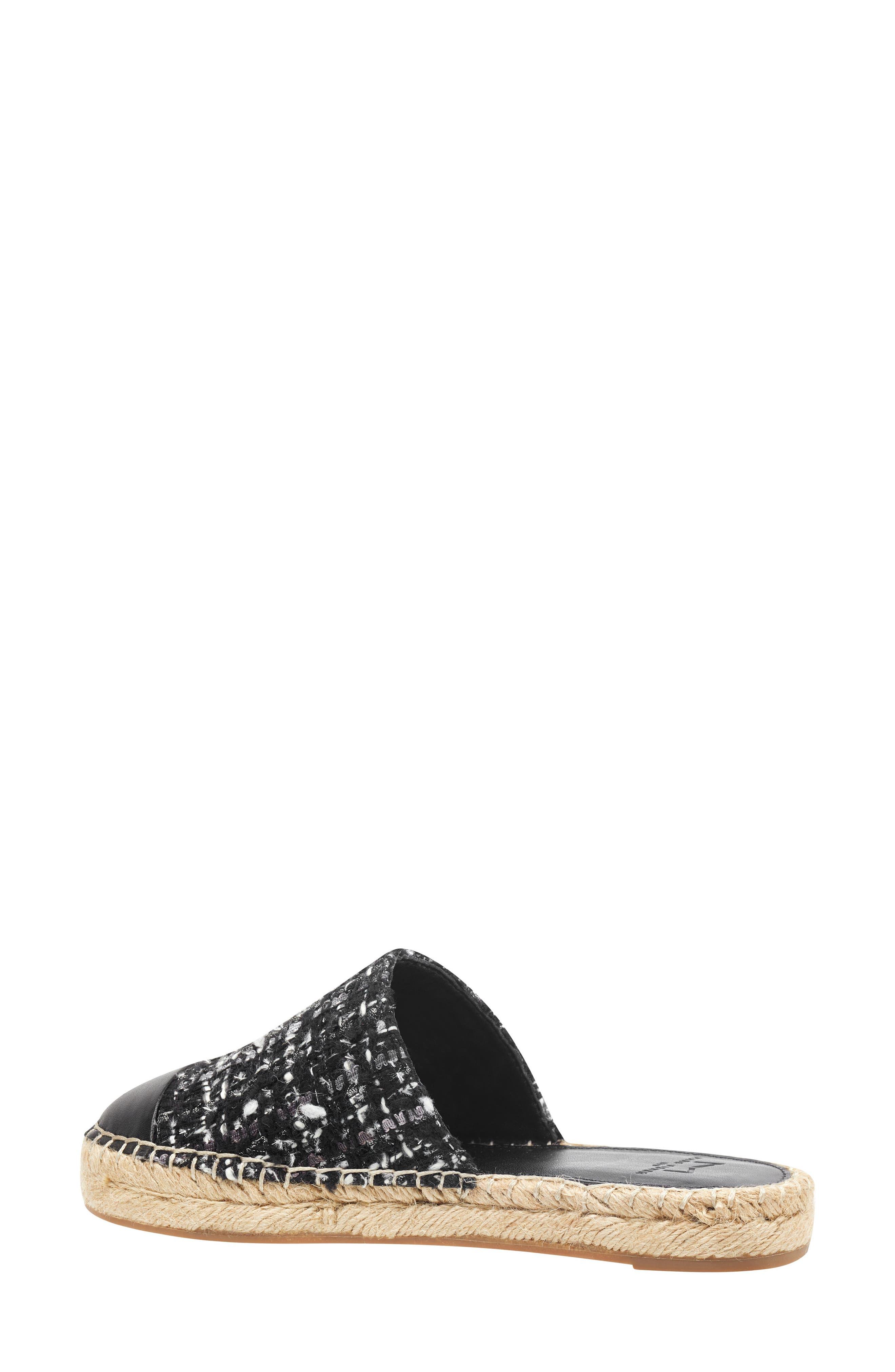 Emilie Cap Toe Mule,                             Alternate thumbnail 2, color,                             BLACK MULTI PRINT