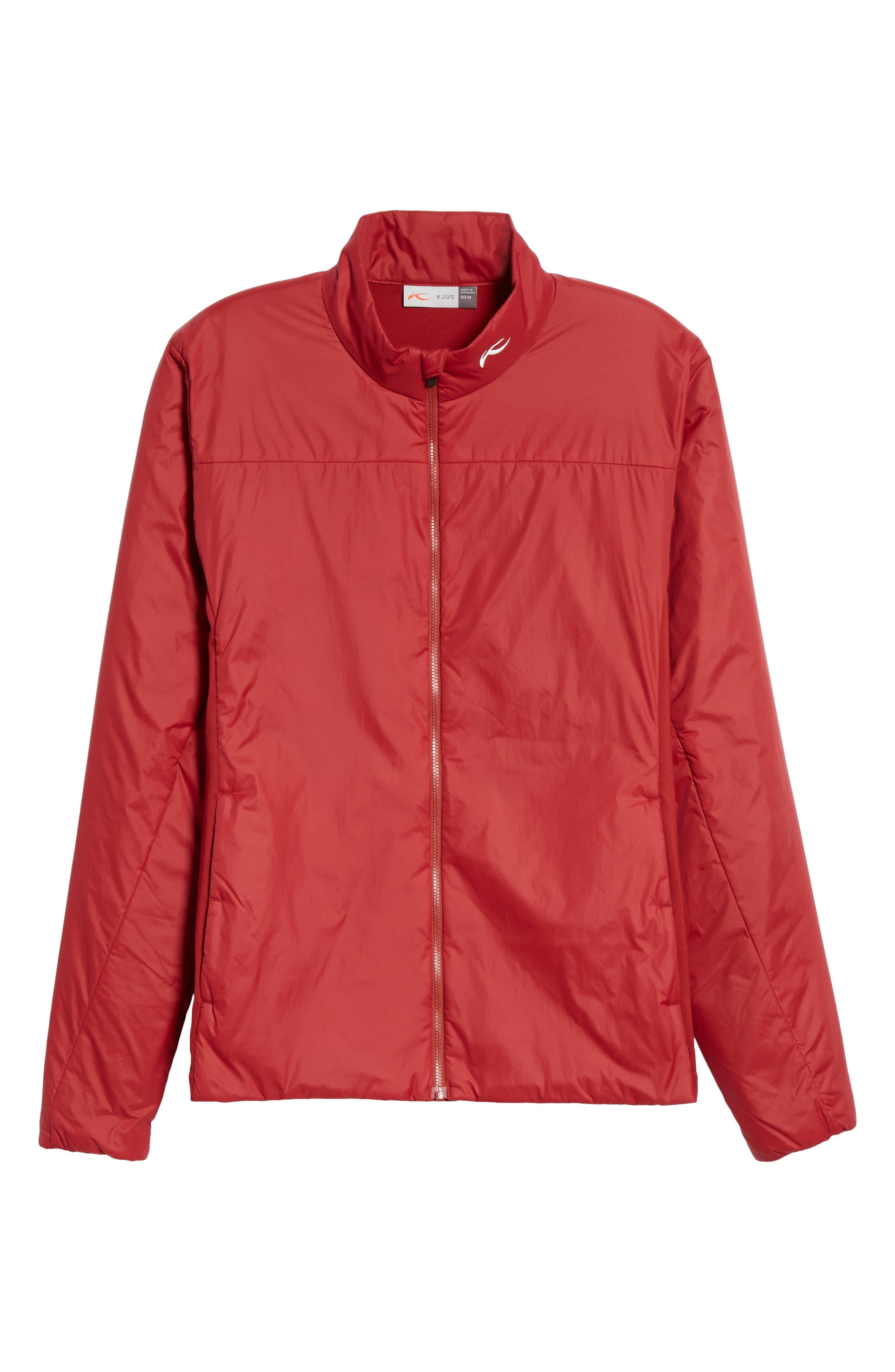 Radiation Waterproof Jacket,                             Main thumbnail 1, color,                             RED DAHLIA