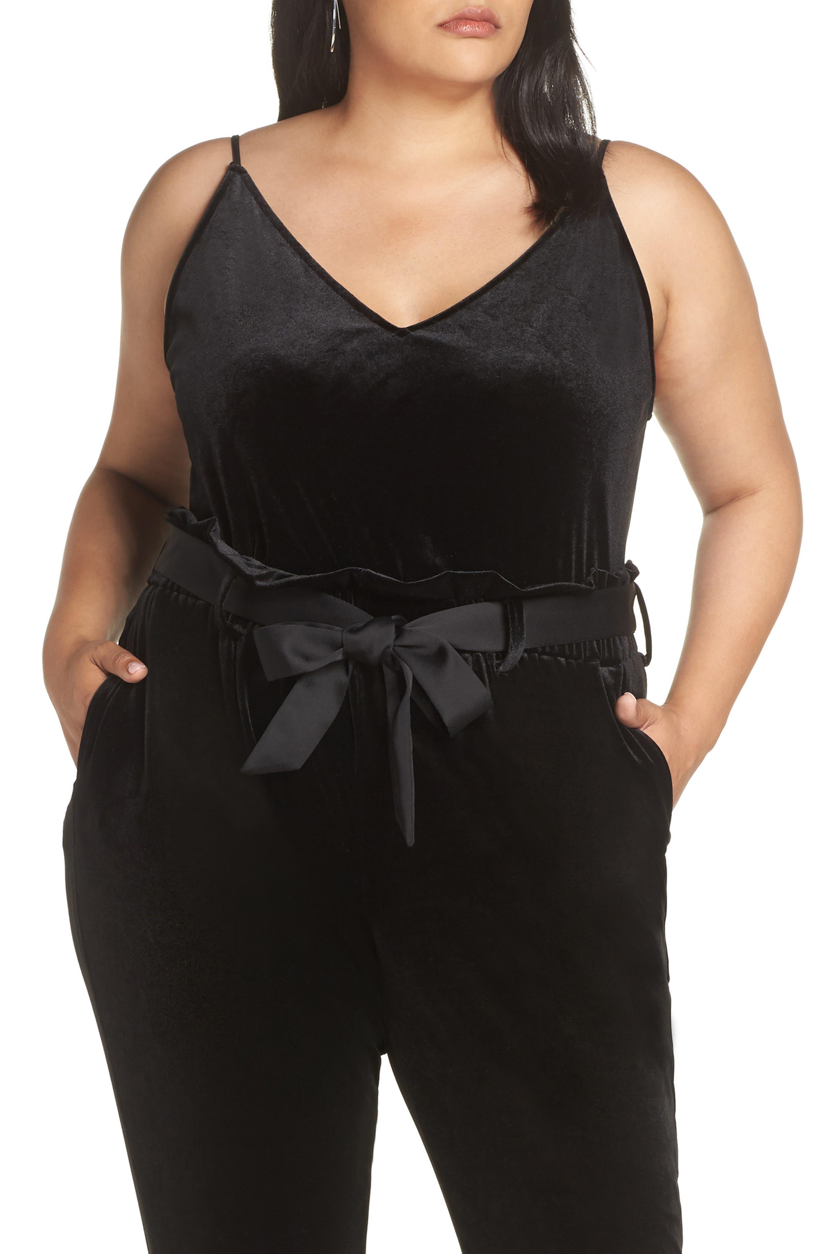 Plus Size Halogen Velvet Camisole, Black