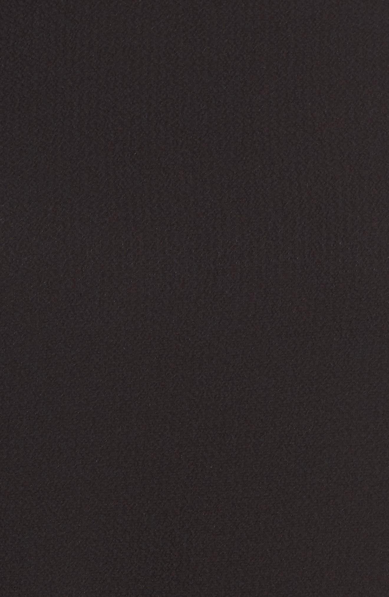 Ruffle Asymmetrical Blouse,                             Alternate thumbnail 5, color,                             001