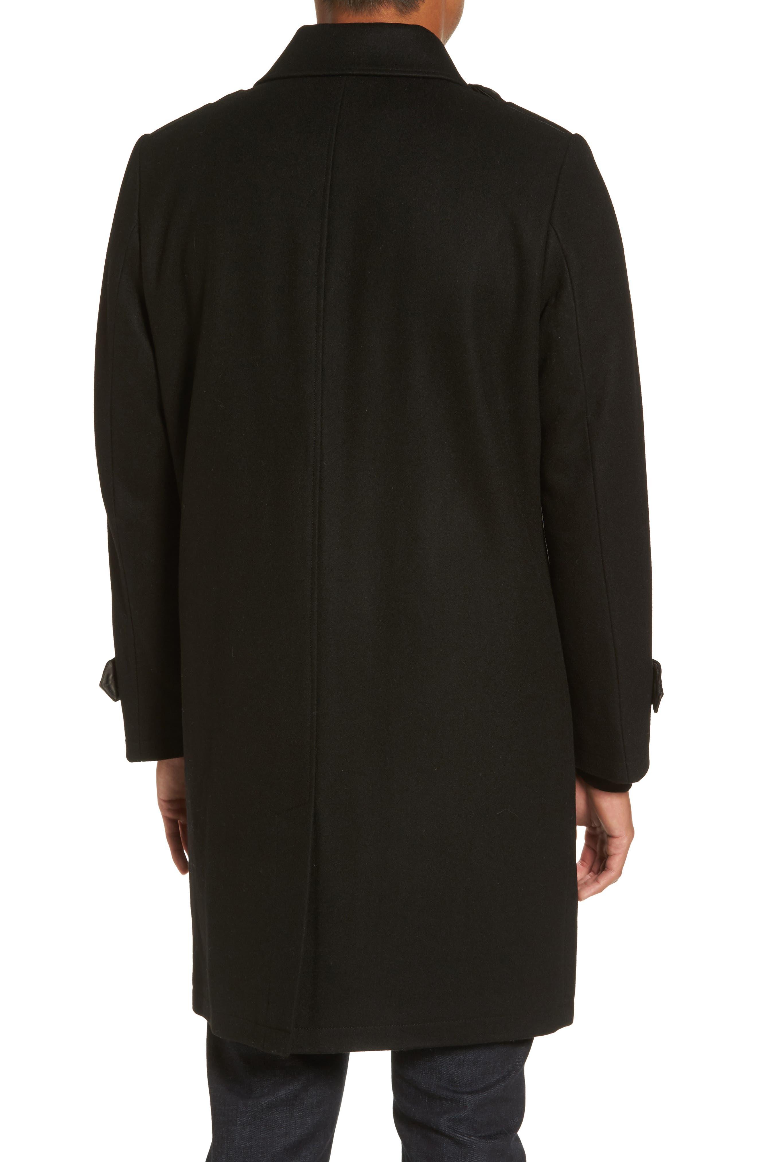 Wool Blend Overcoat,                             Alternate thumbnail 2, color,                             001