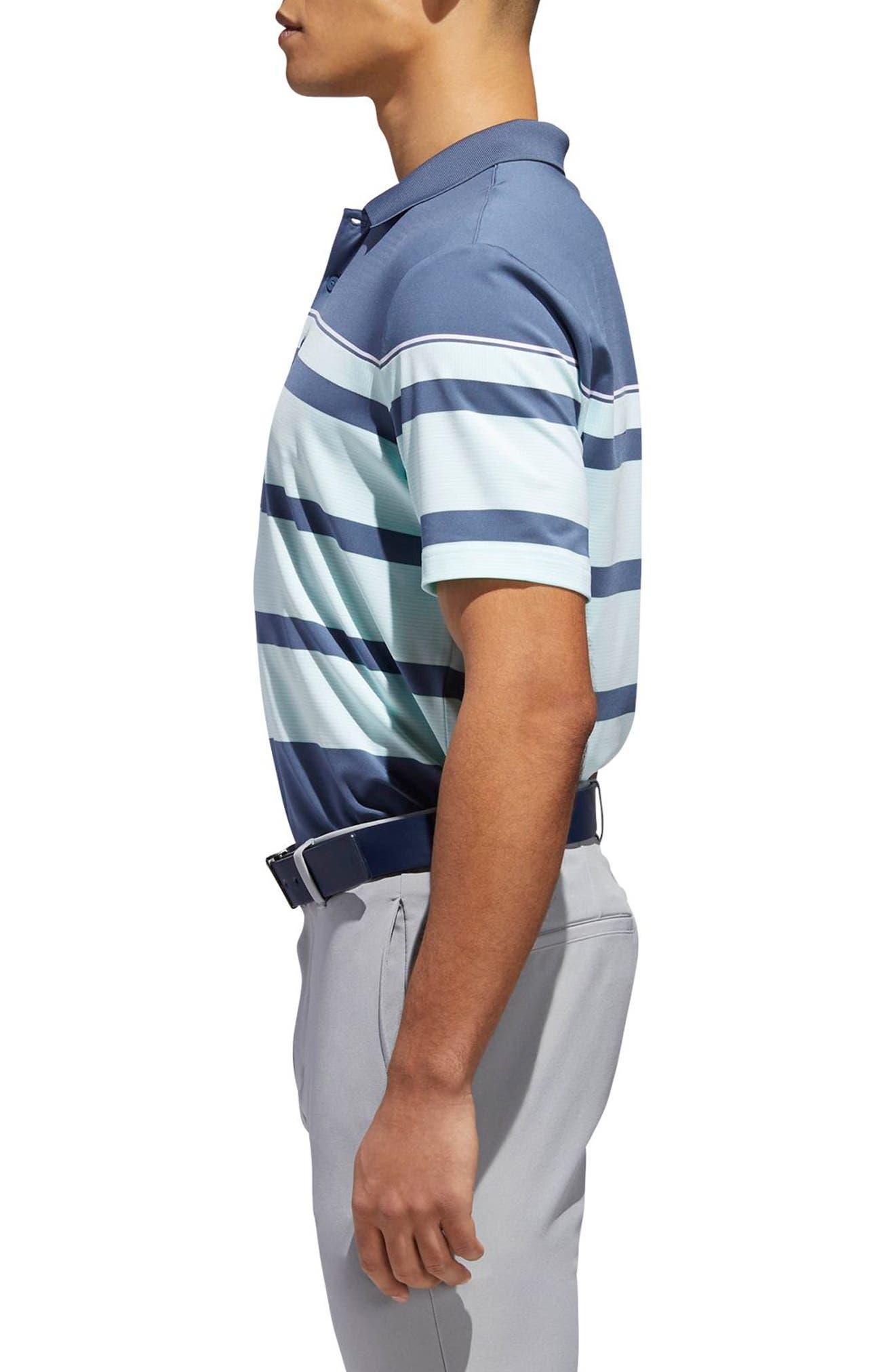Stripe Fashion Tech Polo,                             Alternate thumbnail 3, color,                             407