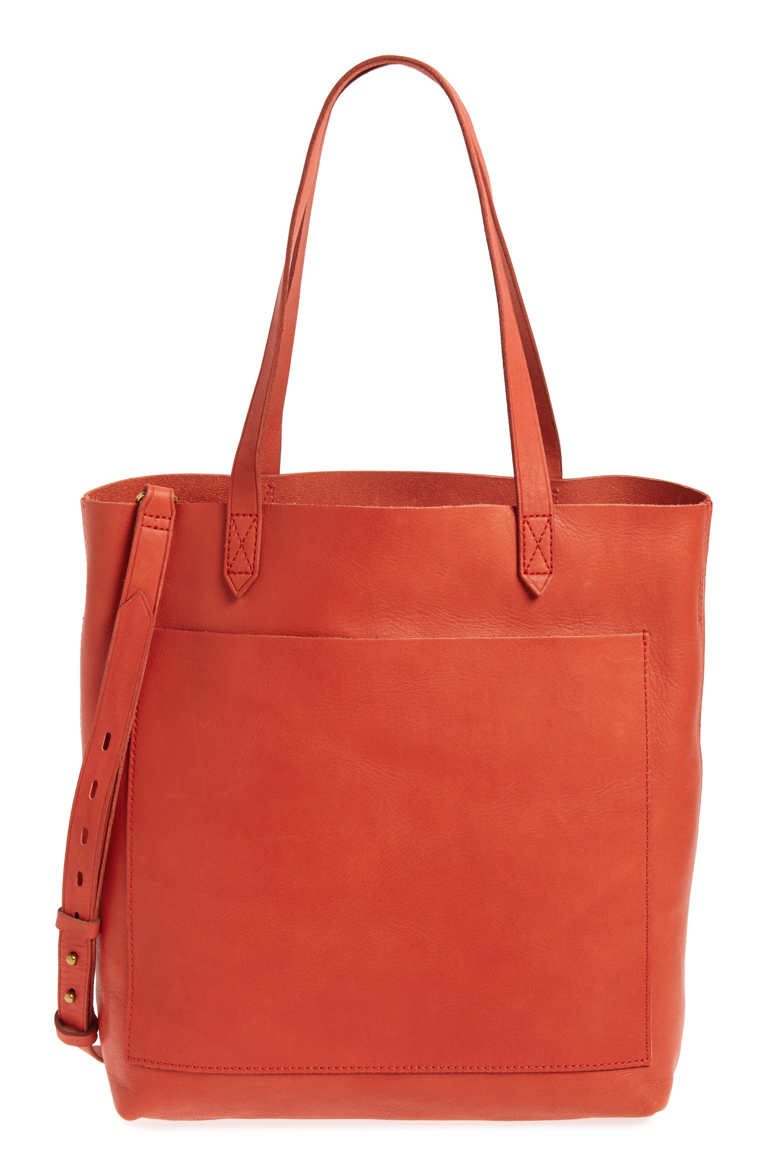 Medium Leather Transport Tote,                             Main thumbnail 7, color,