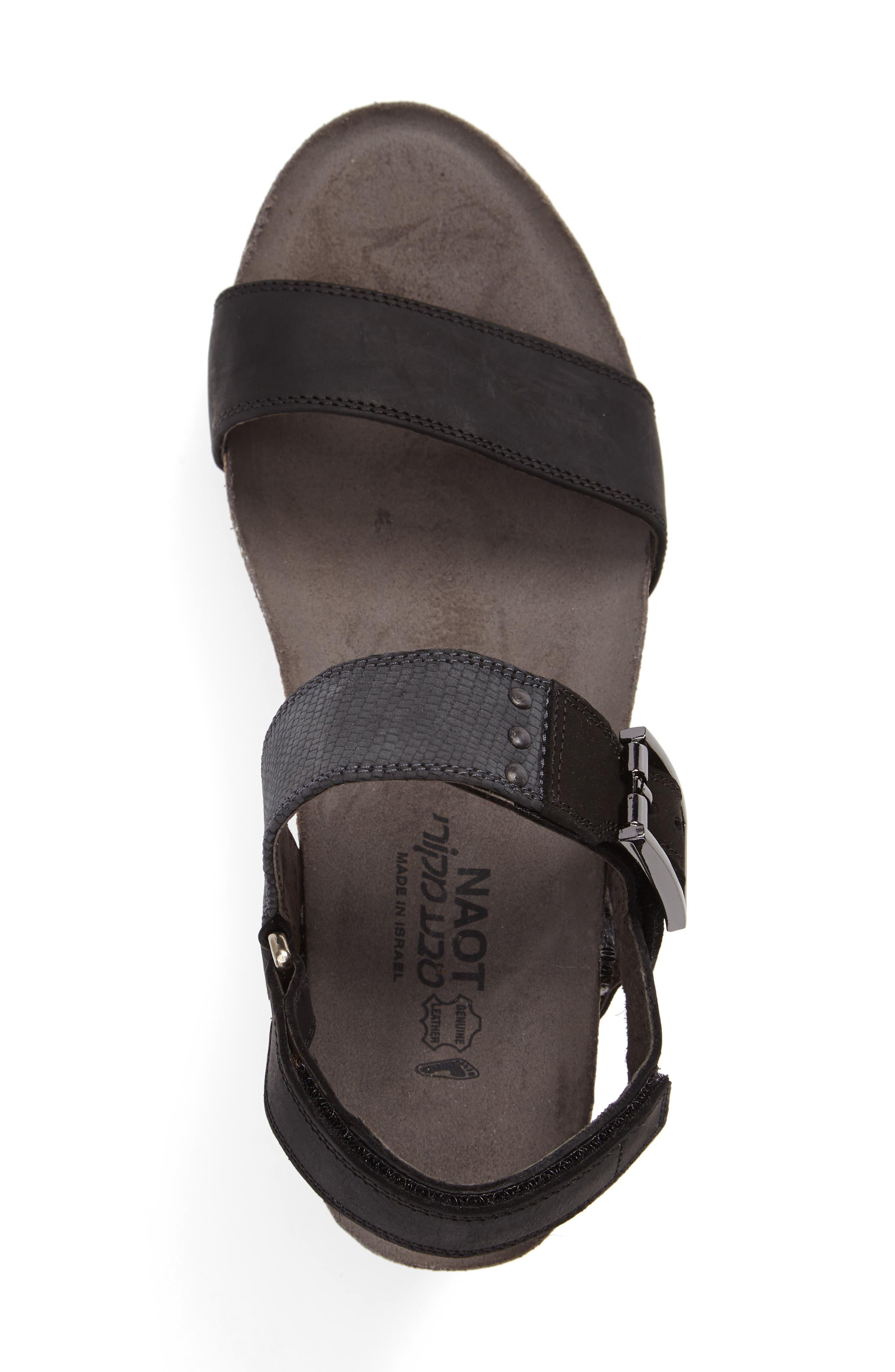 Alpha Platform Wedge Sandal Sandal,                             Alternate thumbnail 3, color,                             020
