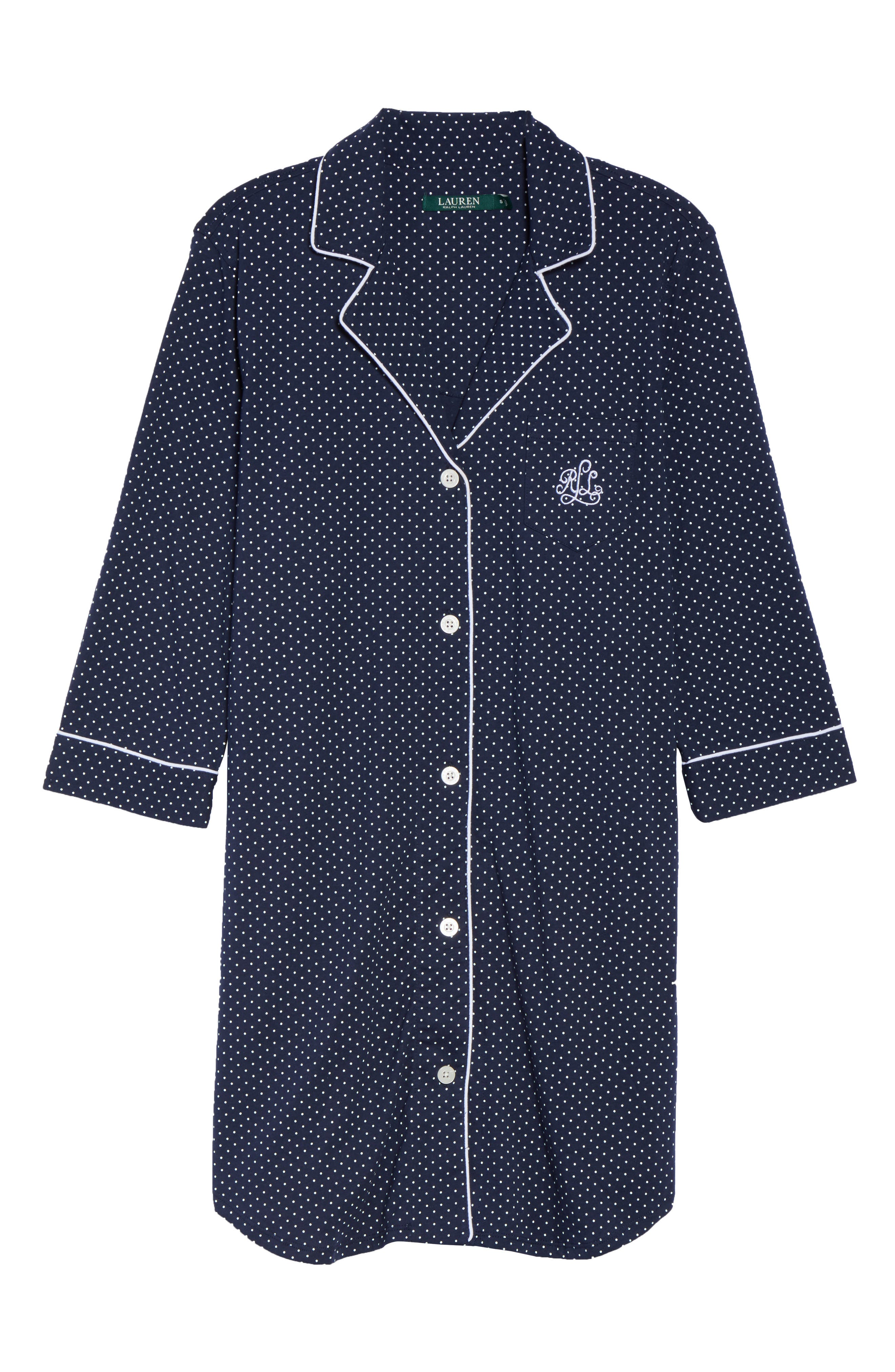 Jersey Sleep Shirt,                             Alternate thumbnail 42, color,