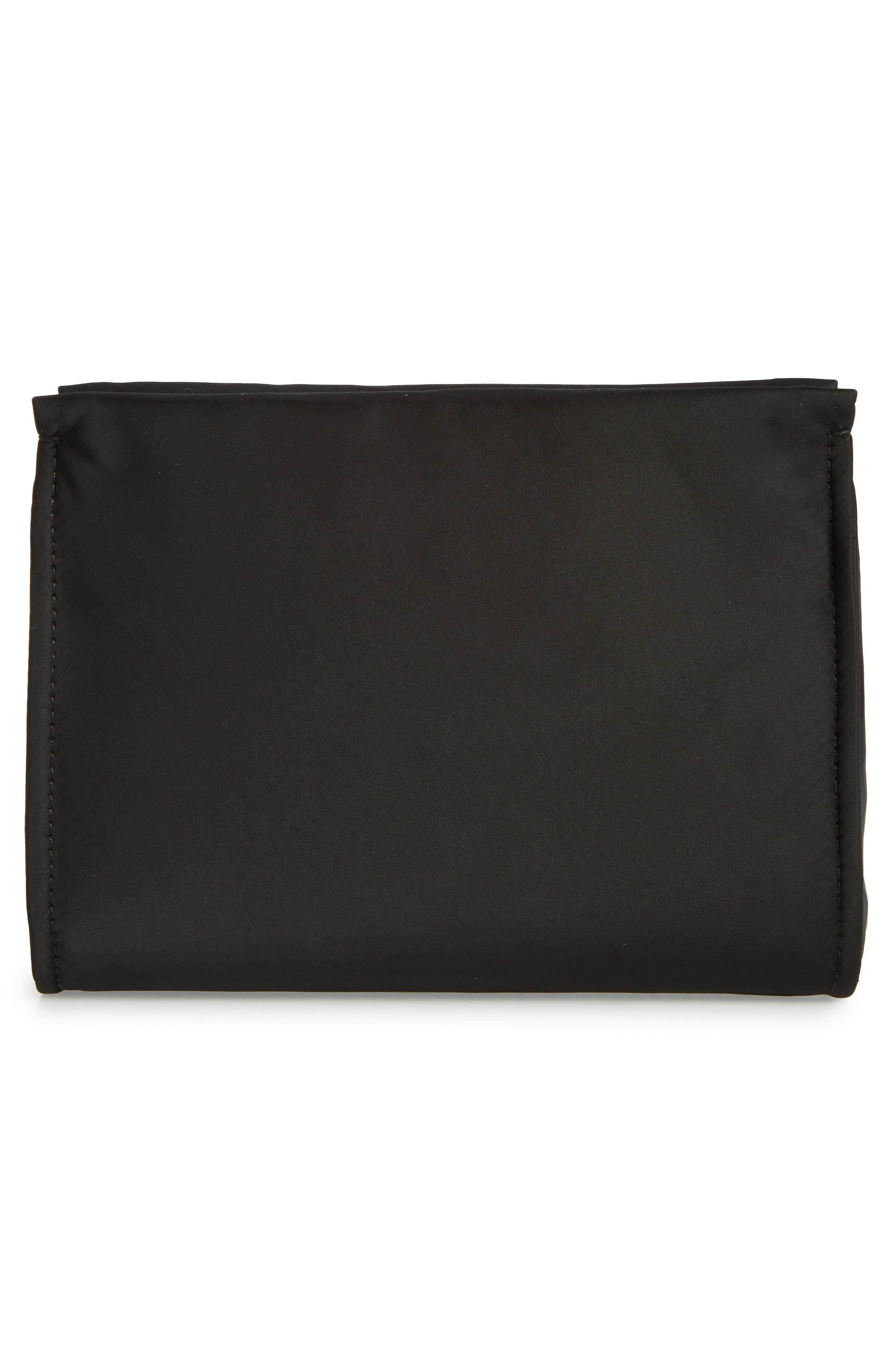 sam nylon cosmetics case,                             Alternate thumbnail 2, color,                             BLACK