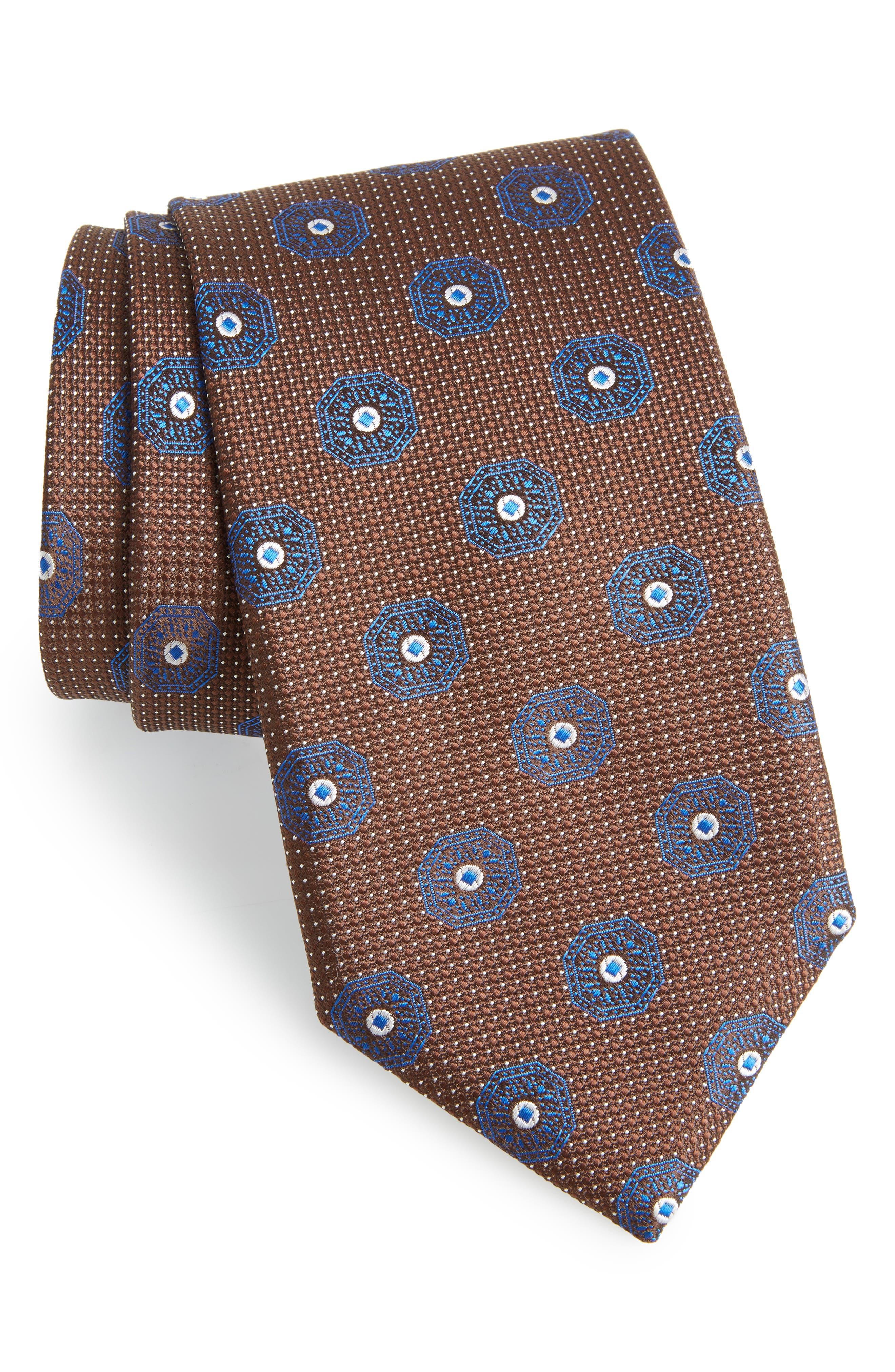 Medallion Silk Tie,                         Main,                         color, 200