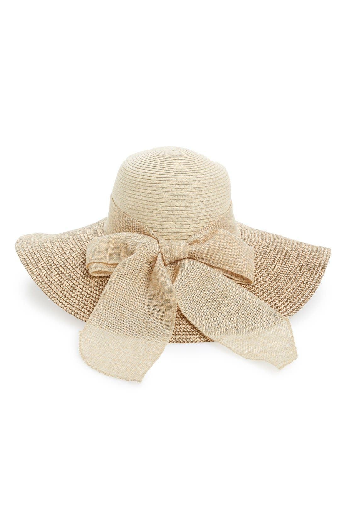Floppy Straw Hat,                             Main thumbnail 1, color,                             260