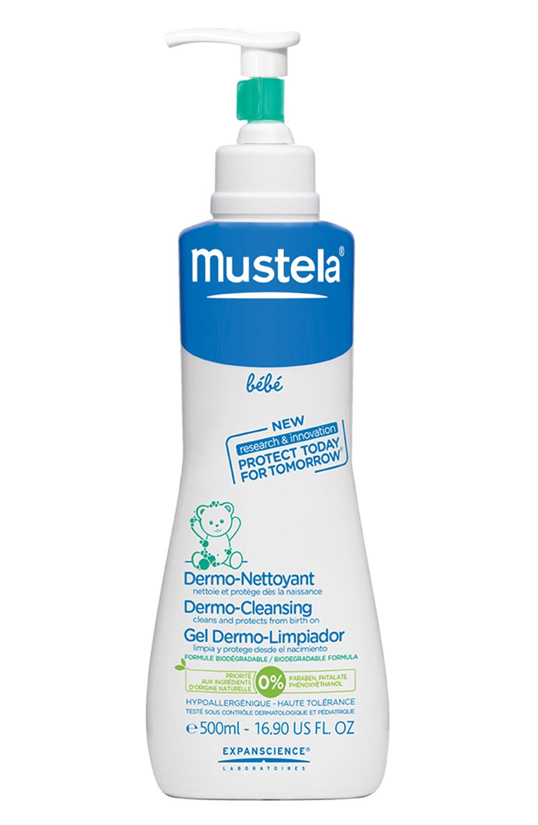 MUSTELA<SUP>®</SUP>,                             Dermo-Cleansing Gel,                             Main thumbnail 1, color,                             000