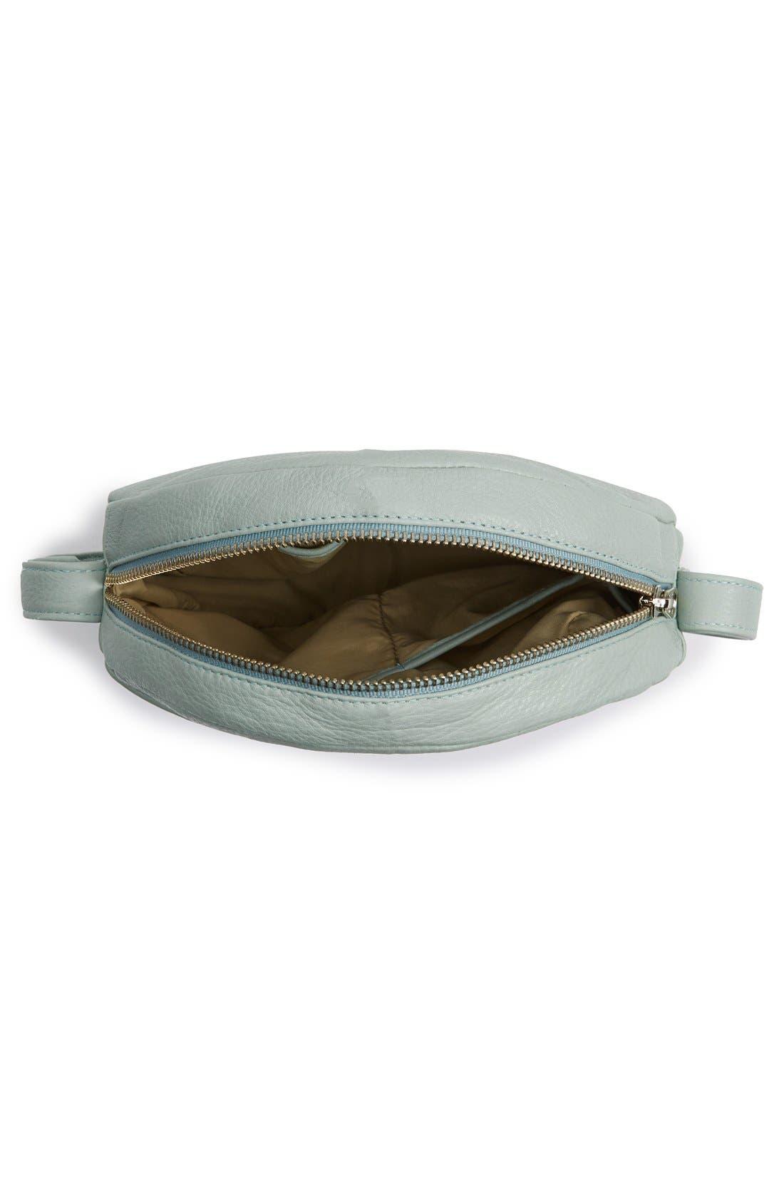 Pebbled Leather Crossbody Bag,                             Alternate thumbnail 17, color,
