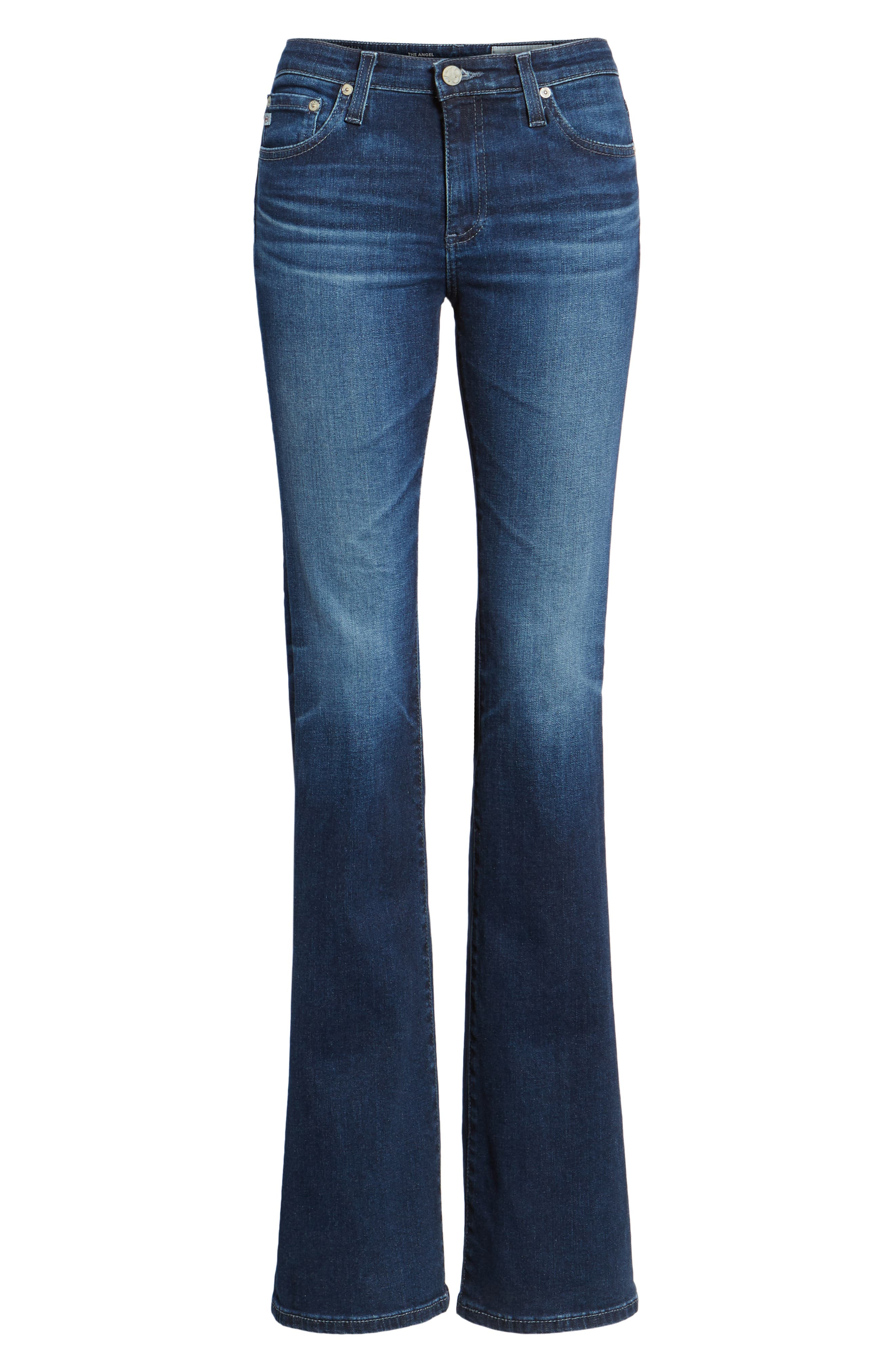 Angel Flare Jeans,                             Alternate thumbnail 7, color,                             04 YEARS DEEP WILLOWS