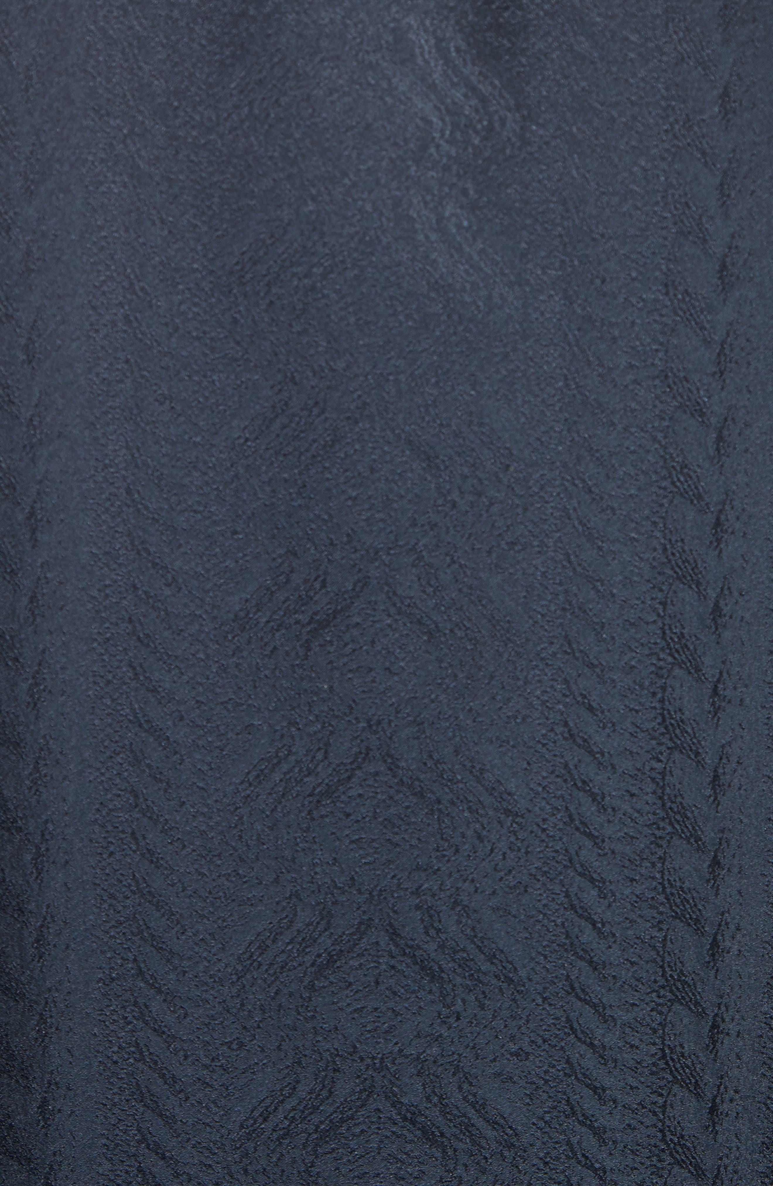 Embroidered Silk Jacquard Blouse,                             Alternate thumbnail 5, color,                             001