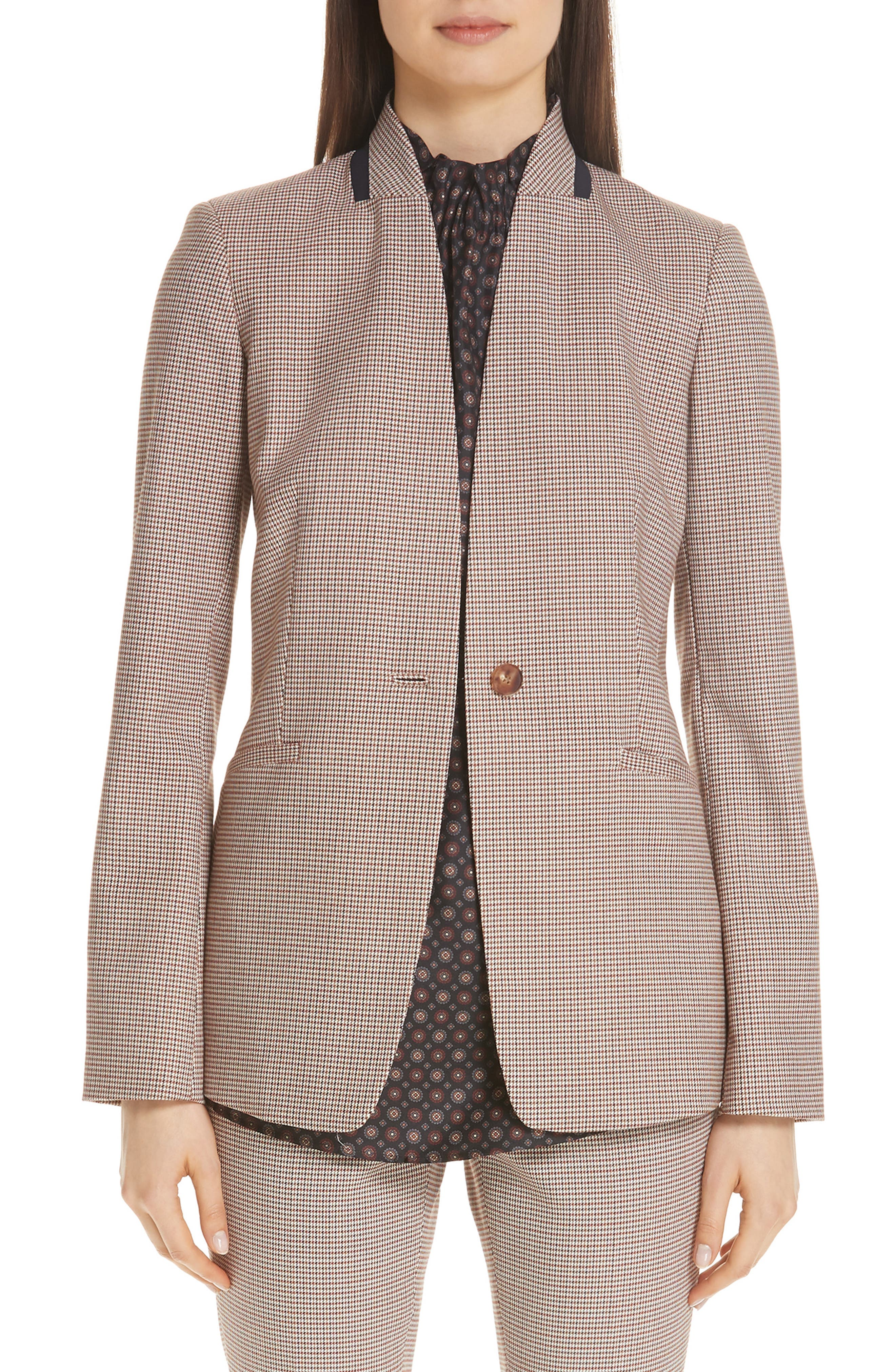 LAFAYETTE 148 NEW YORK Darcy Plaid Jacket, Main, color, 600