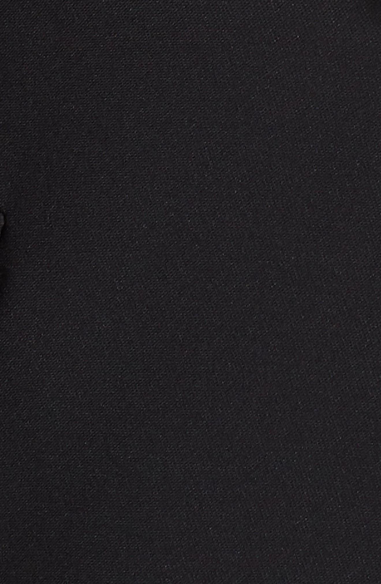 Gathered Sleeve Blazer,                             Alternate thumbnail 4, color,                             BLACK