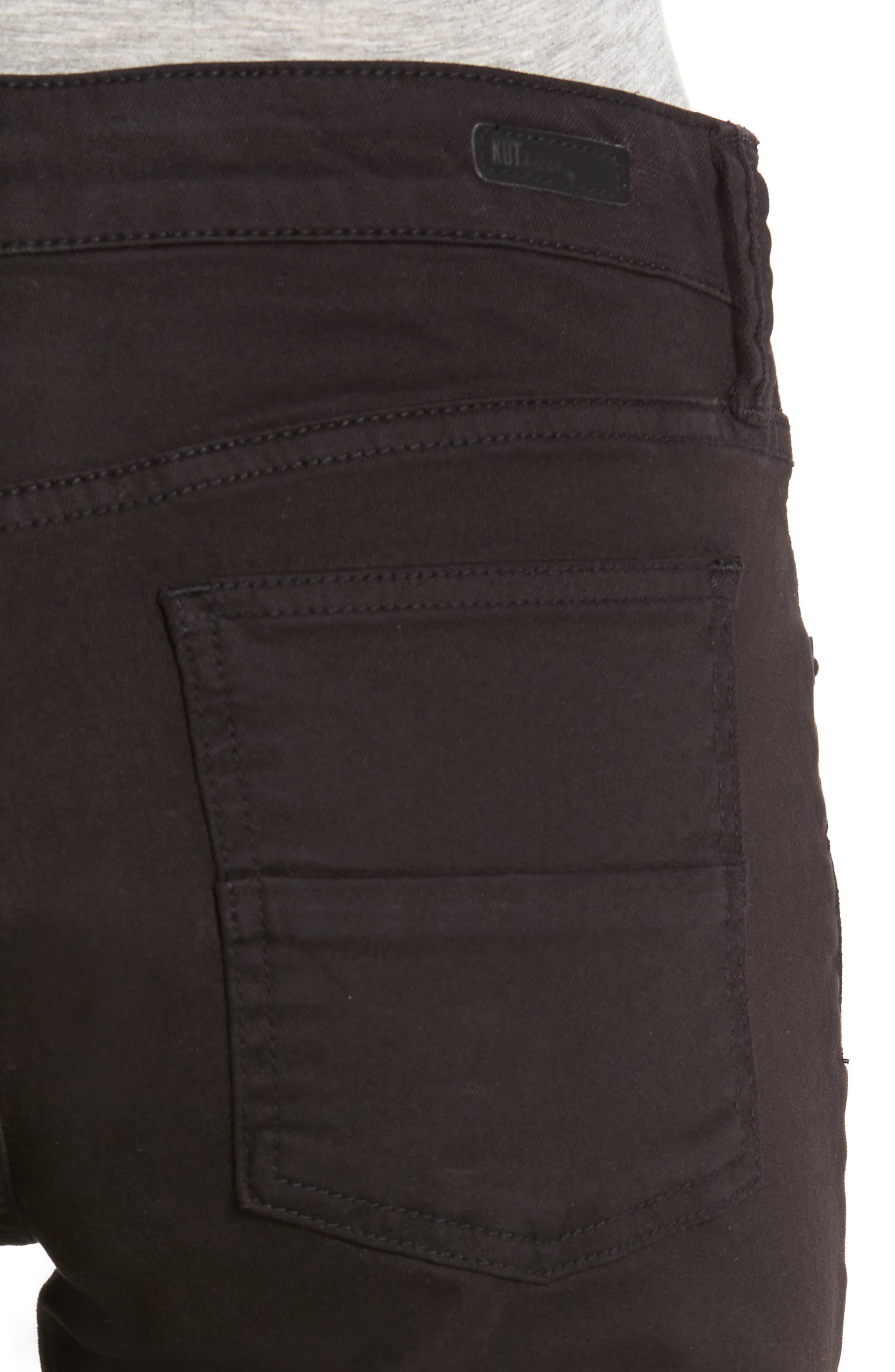 'Natalie' Twill Bermuda Shorts,                             Alternate thumbnail 5, color,                             001