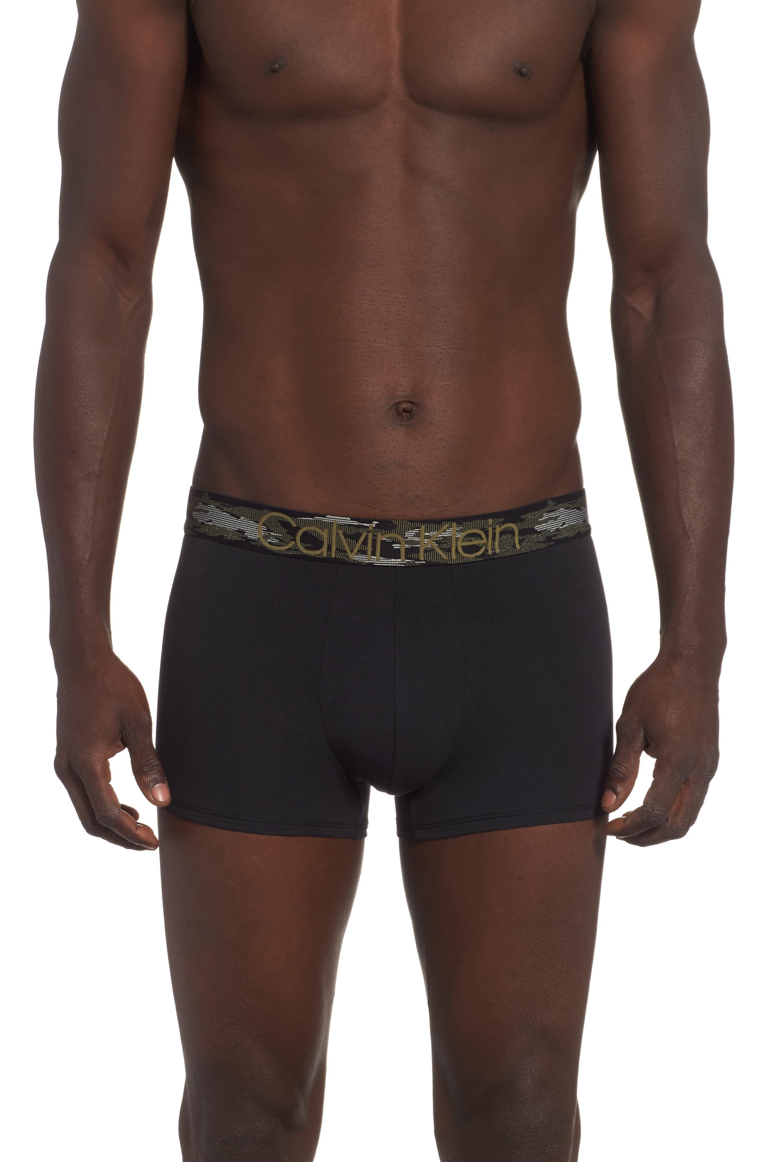 Cotton Trunks,                         Main,                         color, BLACK W/ CAMO WB