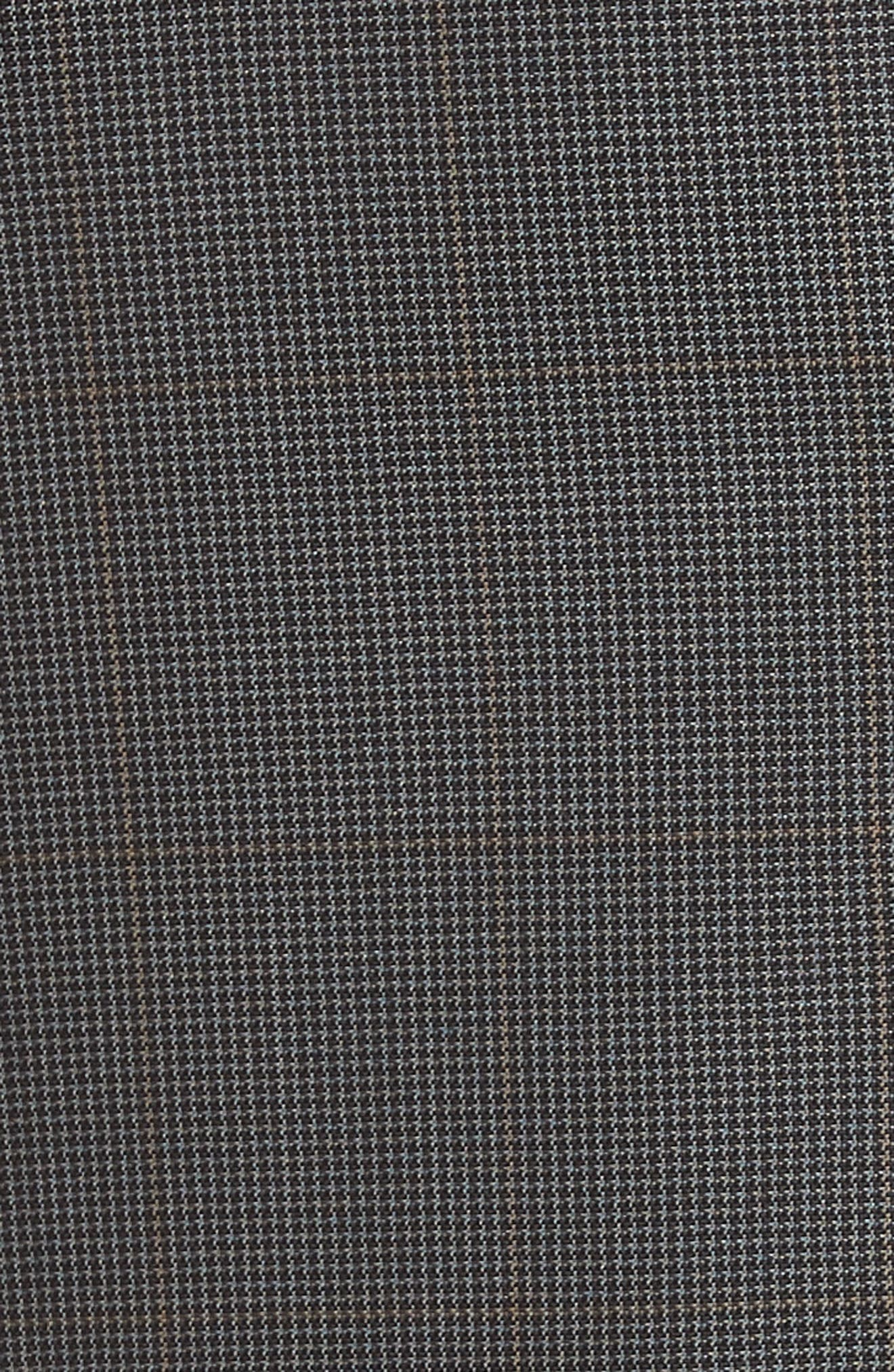 Trim Fit Houndstooth Wool & Silk Suit,                             Alternate thumbnail 6, color,                             026